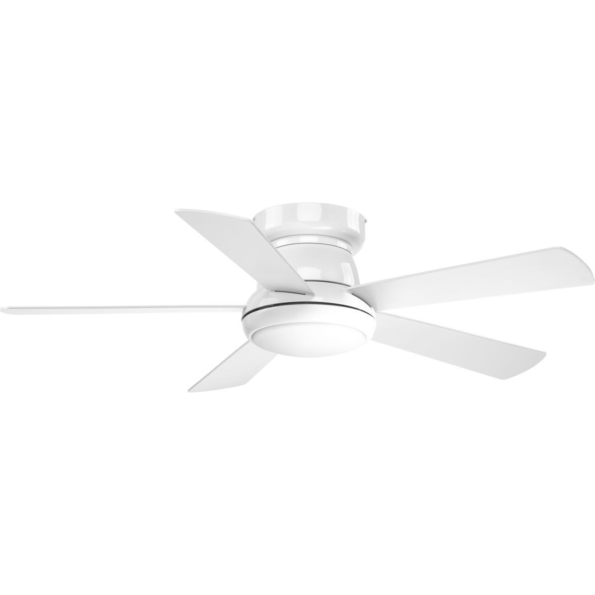 Progress Lighting P2572 3030k White Vox 52 5 Blade Hugger Ceiling Fan With Led Light Kit And Remote Faucet Com