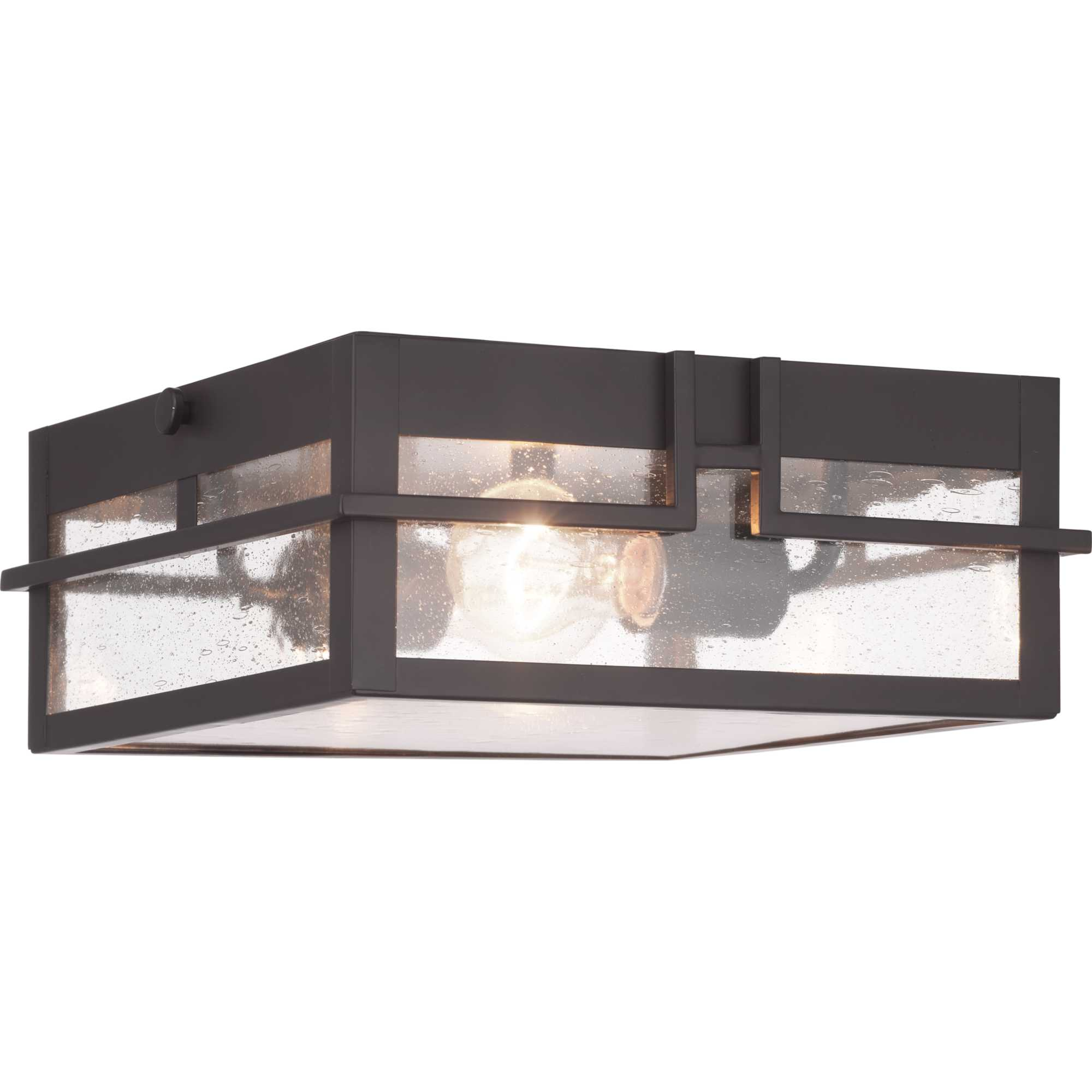 Progress Lighting P550038 020 Antique Bronze Boxwood 2 Light 11 Wide Outdoor Flush Mount Square Ceiling Fixture Lightingdirect Com