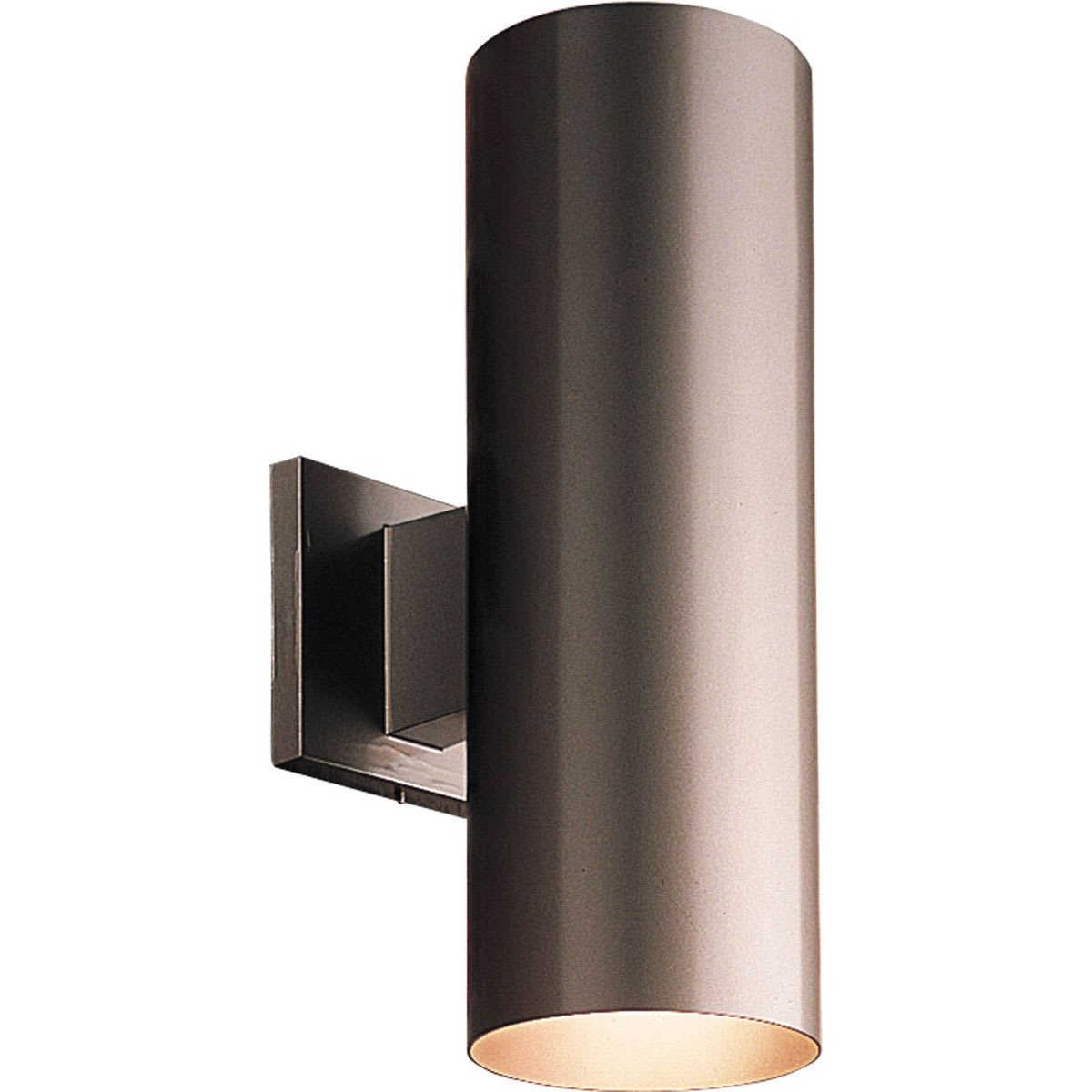 progress lighting outdoor lantern. cylinder 2 light outdoor wall sconce with metal shade - 14\ progress lighting lantern