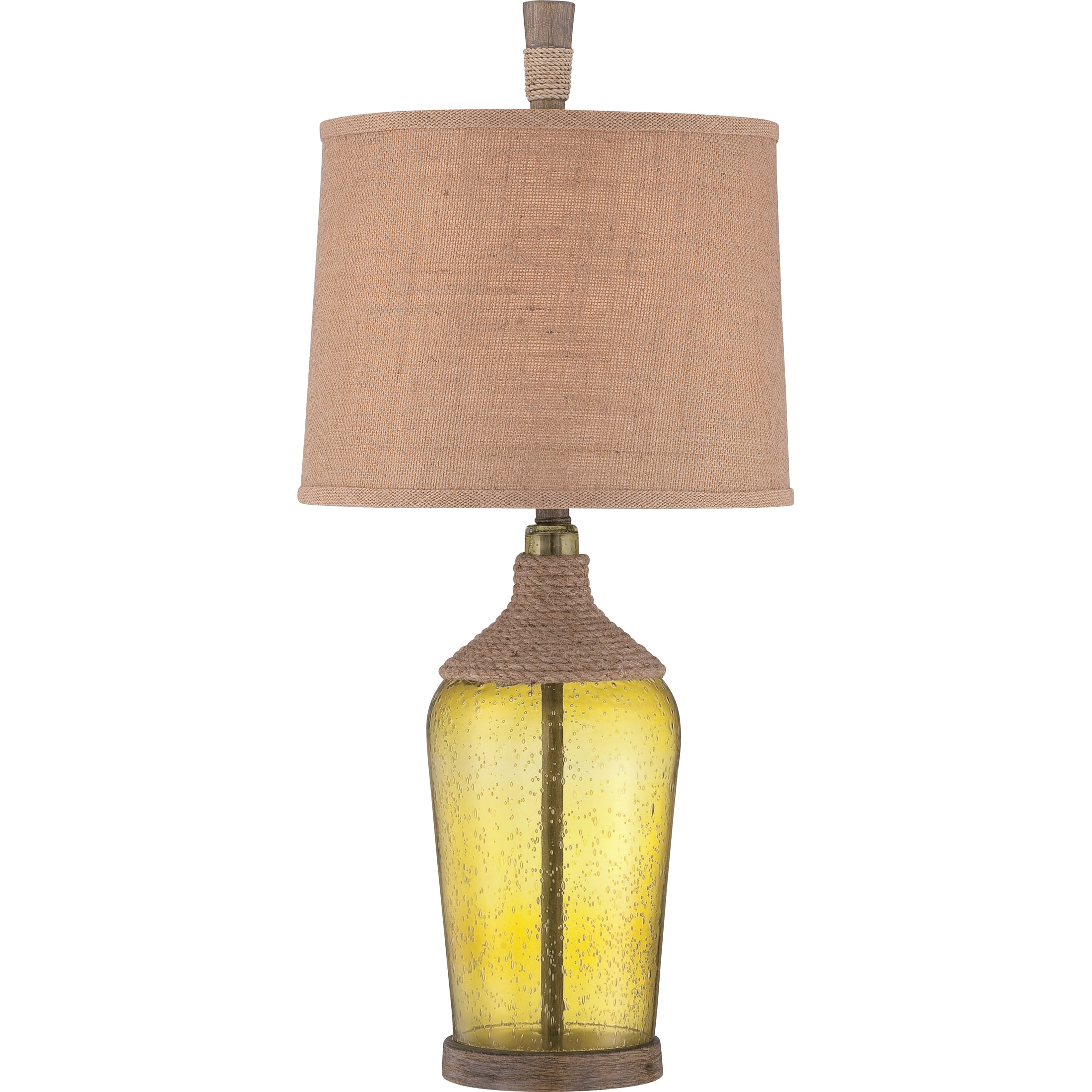 Quoizel Ckor1735t Seedy Glass Moors 1 Light 32 Tall Table Lamp With Burlap Softback Shade