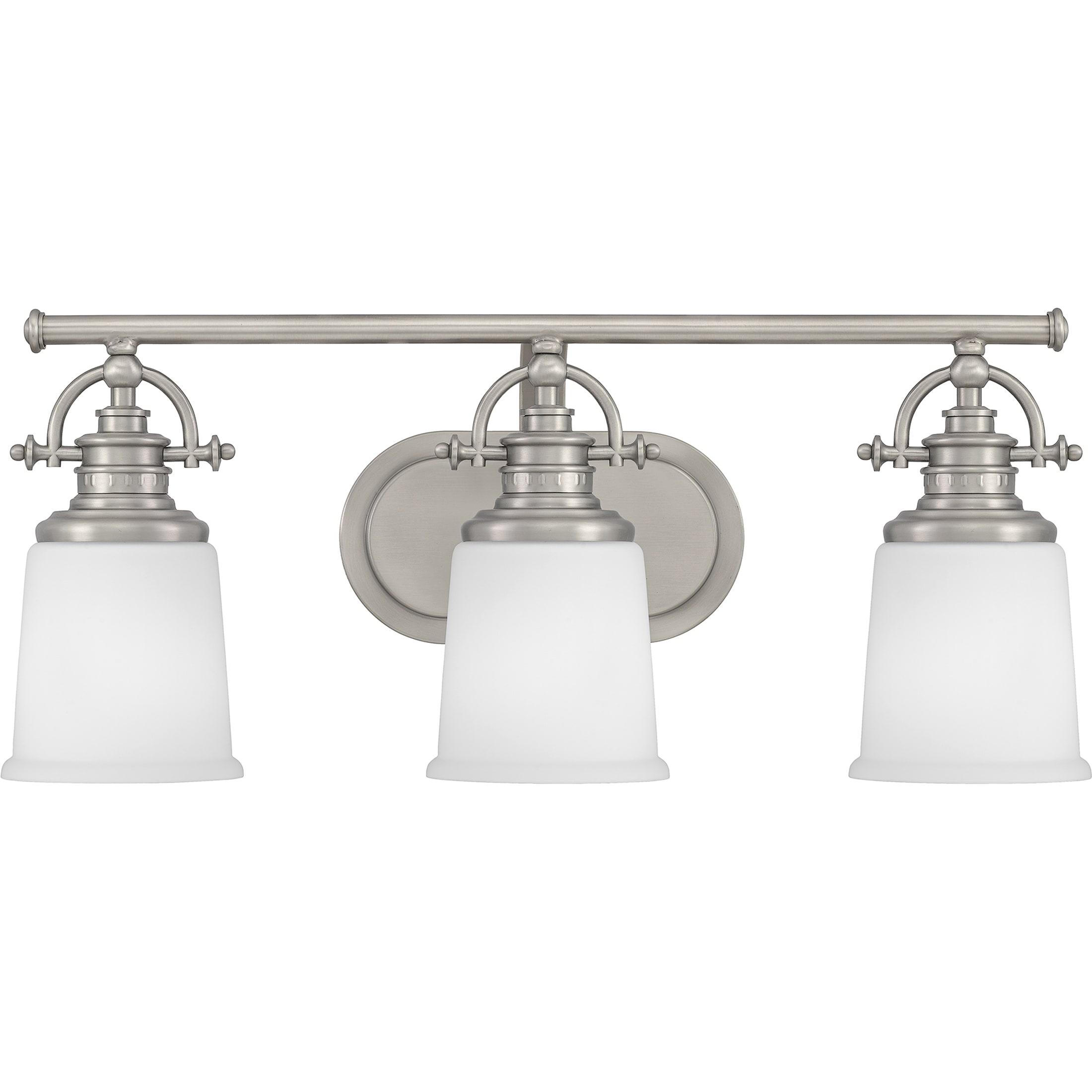 Quoizel Grt8603c Polished Chrome Grant 3 Light 23 Wide Bathroom Vanity Light Lightingdirect Com