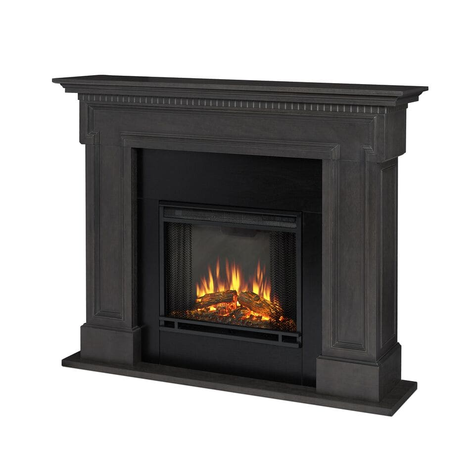 thayer btu blower forced electric heater with remote control and digital controls - Electric Fireplace Mantels