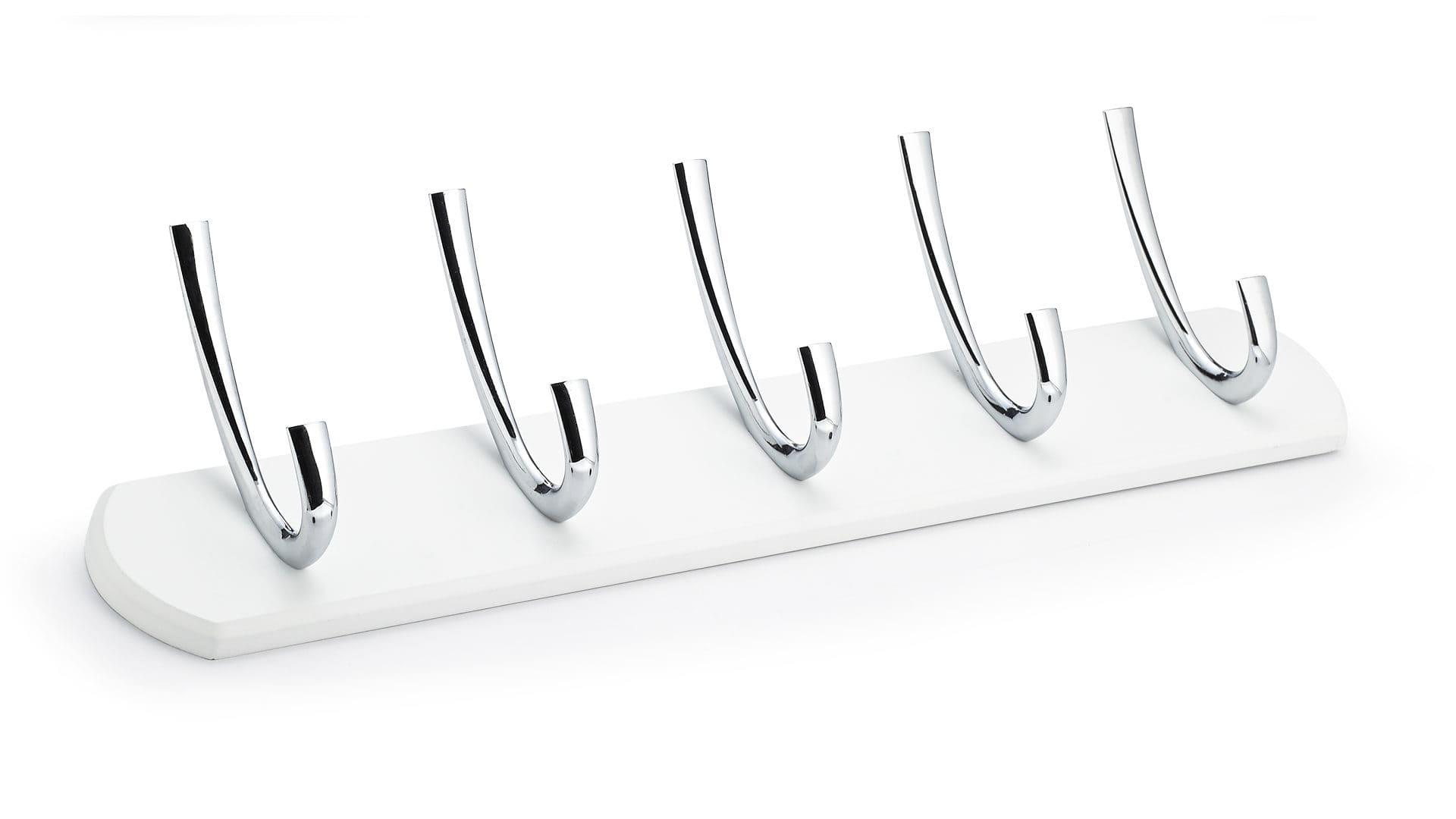 Brushed Nickel//Black Finish Richelieu RH111210590195 Contemporary Hook Rack