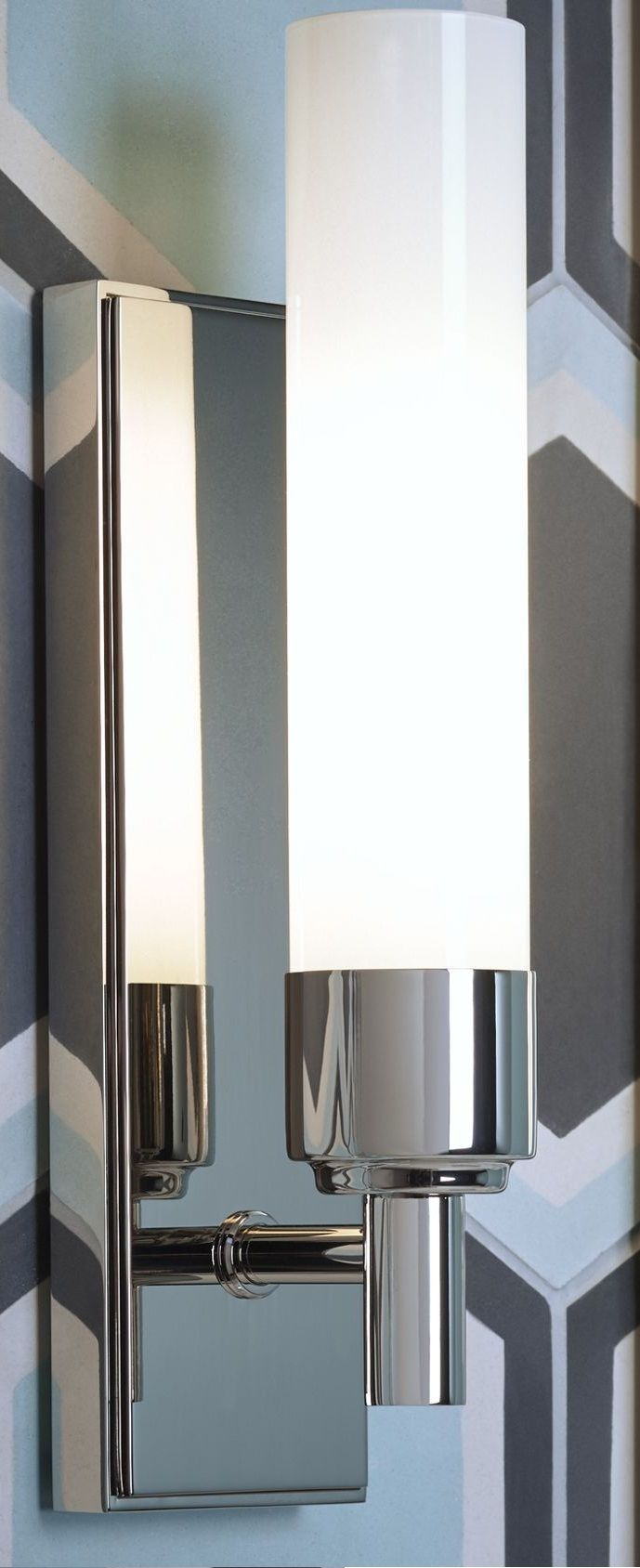 Robern Bathroom Sconces robern dlfml77 polished nickel main line single light wall sconce