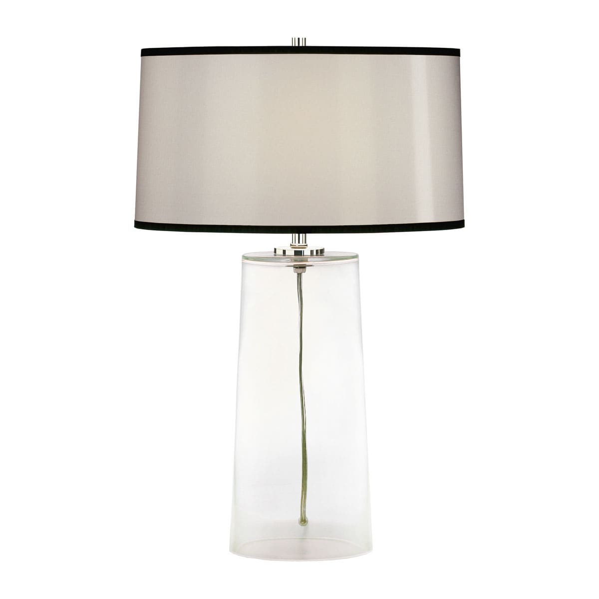 Robert Abbey 1580b Frosted Glass Olinda 23 Column Table Lamp With A Black Organza Shade Lightingshowplace Com