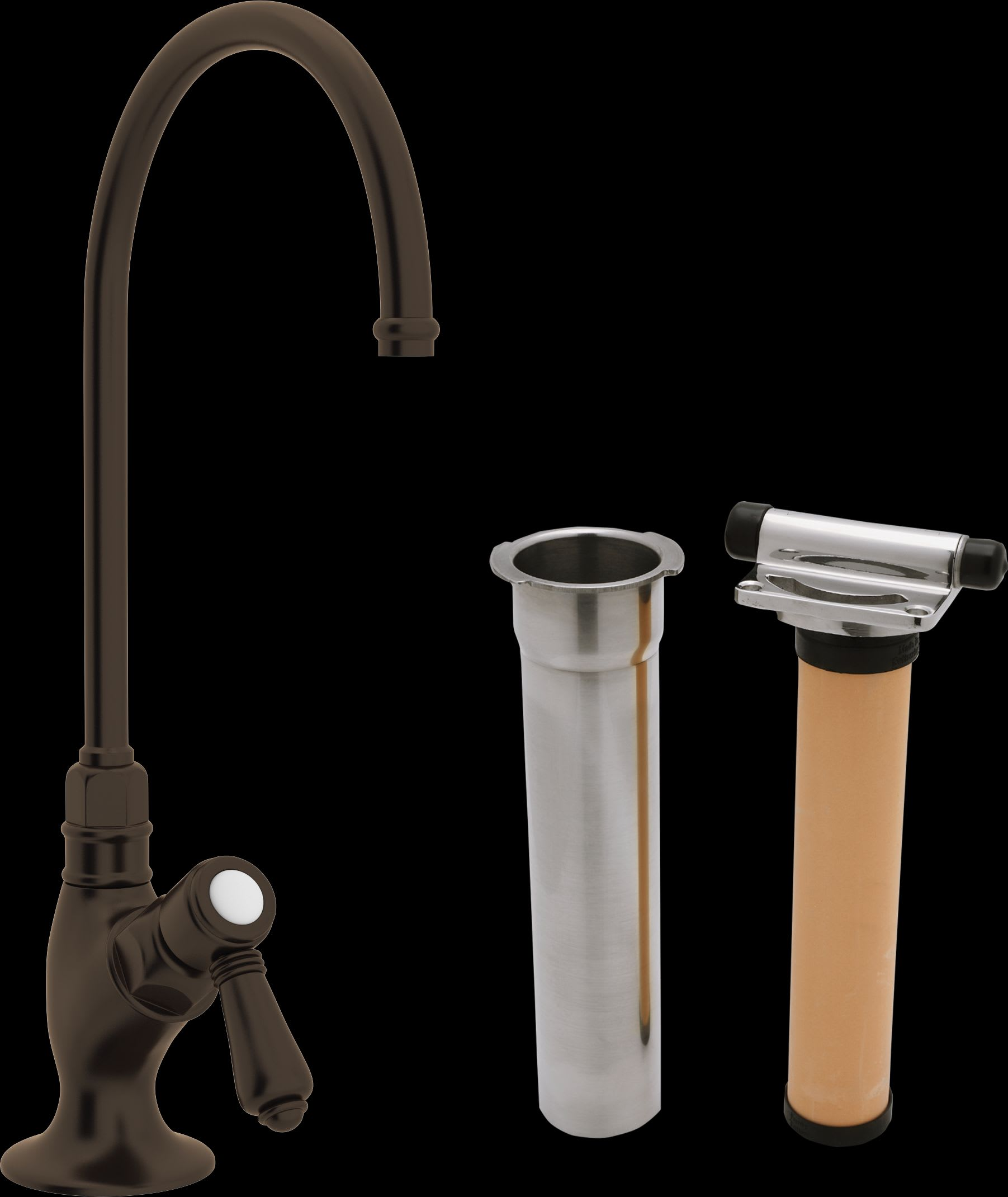 Rohl AKIT1635LMTCB-2 Tuscan Brass Country Kitchen Kitchen Faucet ...