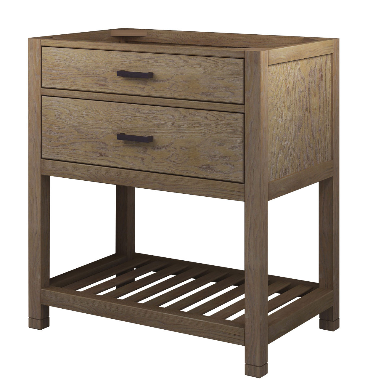 "sagehill designs tb3021d weathered oak toby 30"" vanity cabinet only 30 Vanity Cabinet and Sink"