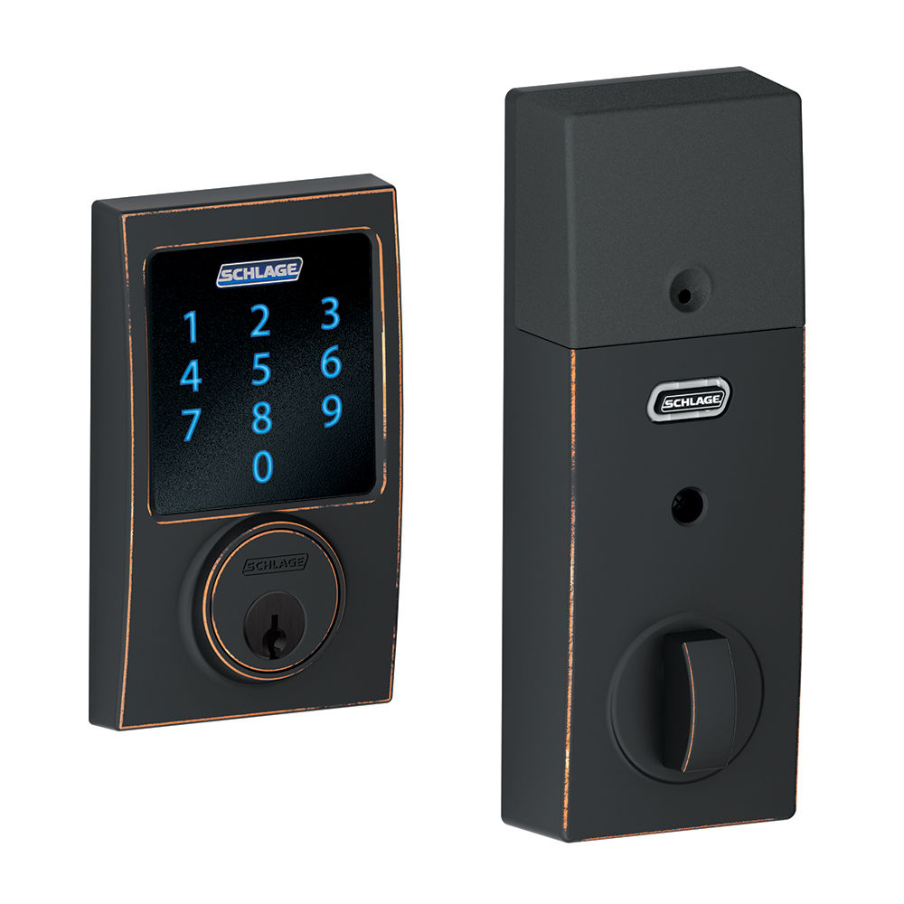 Keyless Entry Locks At Residential Electronic Connect Century Touchscreen Deadbolt With Built In Alarm And Z Wave Technology