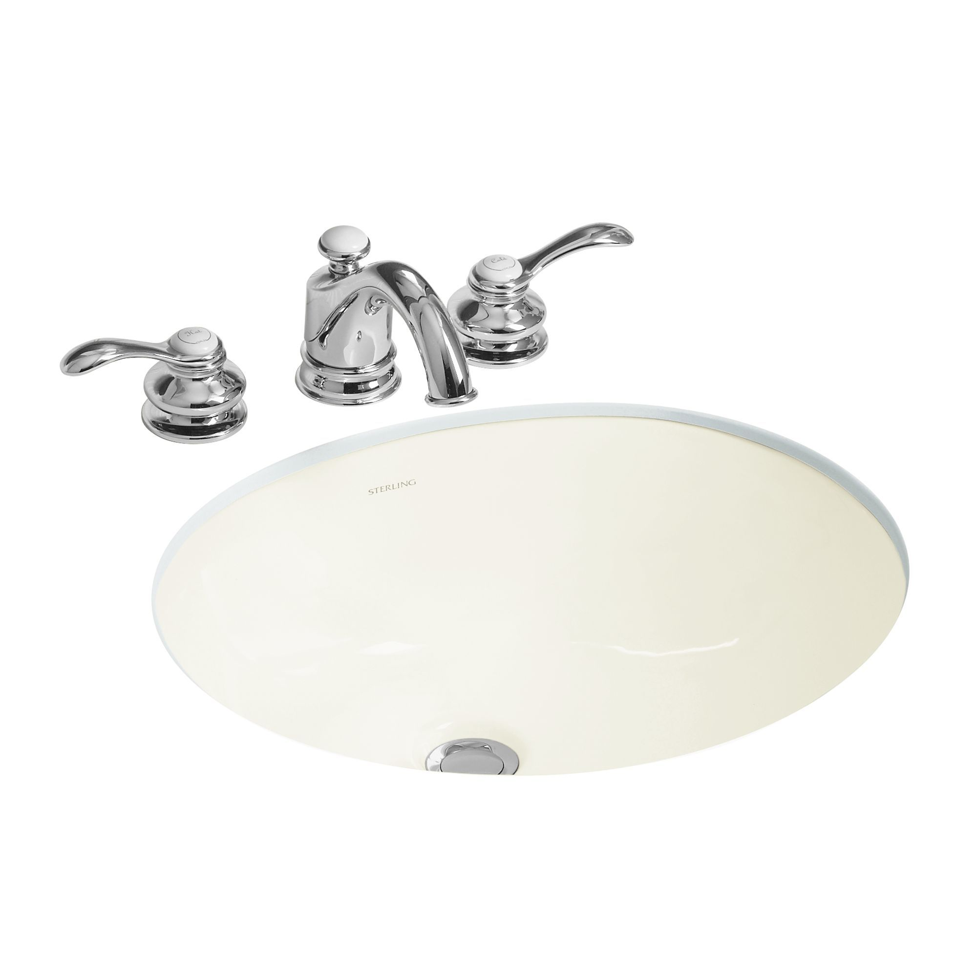 "Sterling 442040-0 White Wescott 17"" Undermount Bathroom Sink And Overflow - Faucet.com"