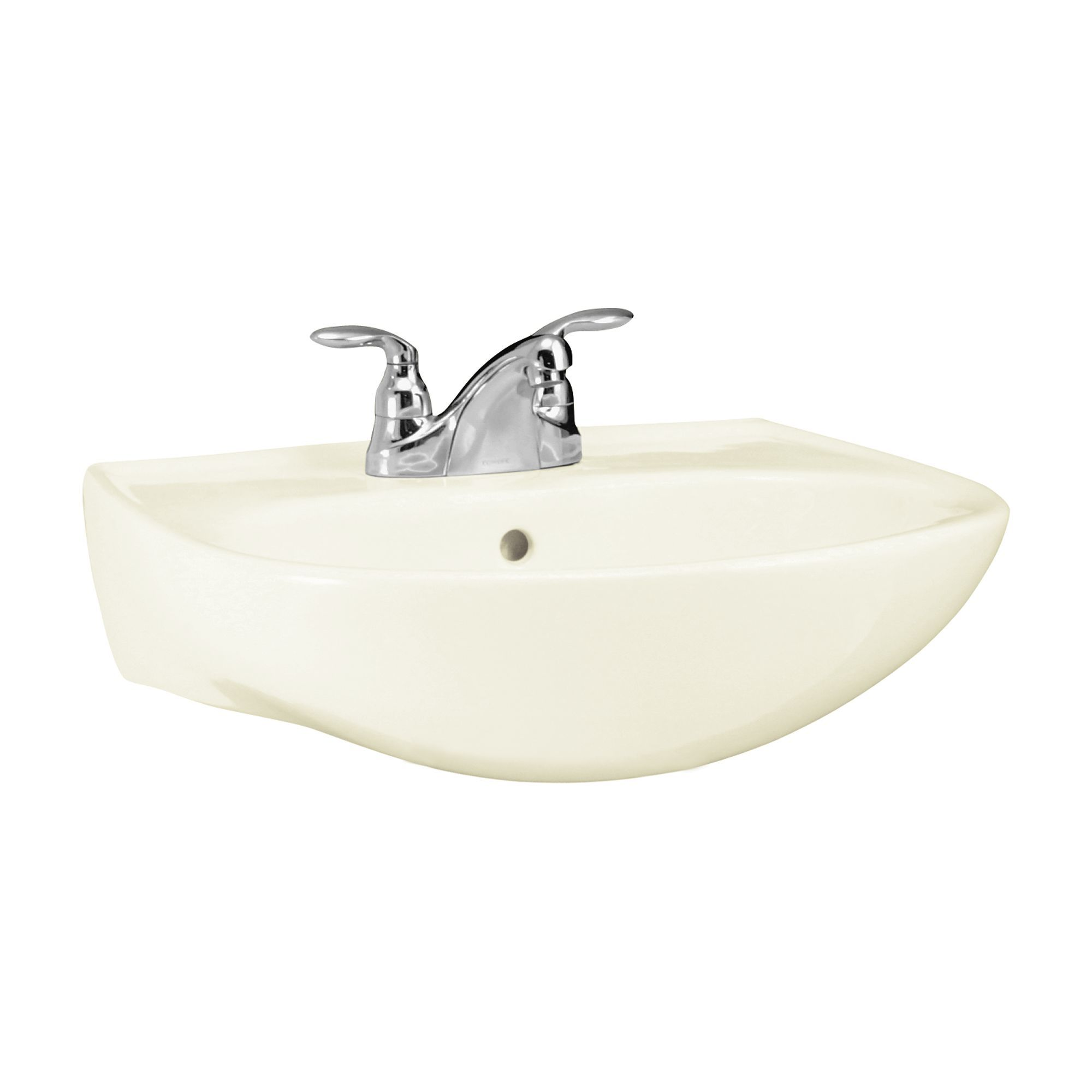 Sterling 446124 0 White Sacramento 21 1 4 Pedestal Bathroom Sink With Three Holes Drilled And Overflow Faucet