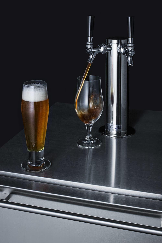 Summit SBC677BITWIN :: Dual Faucet Beer Dispenser