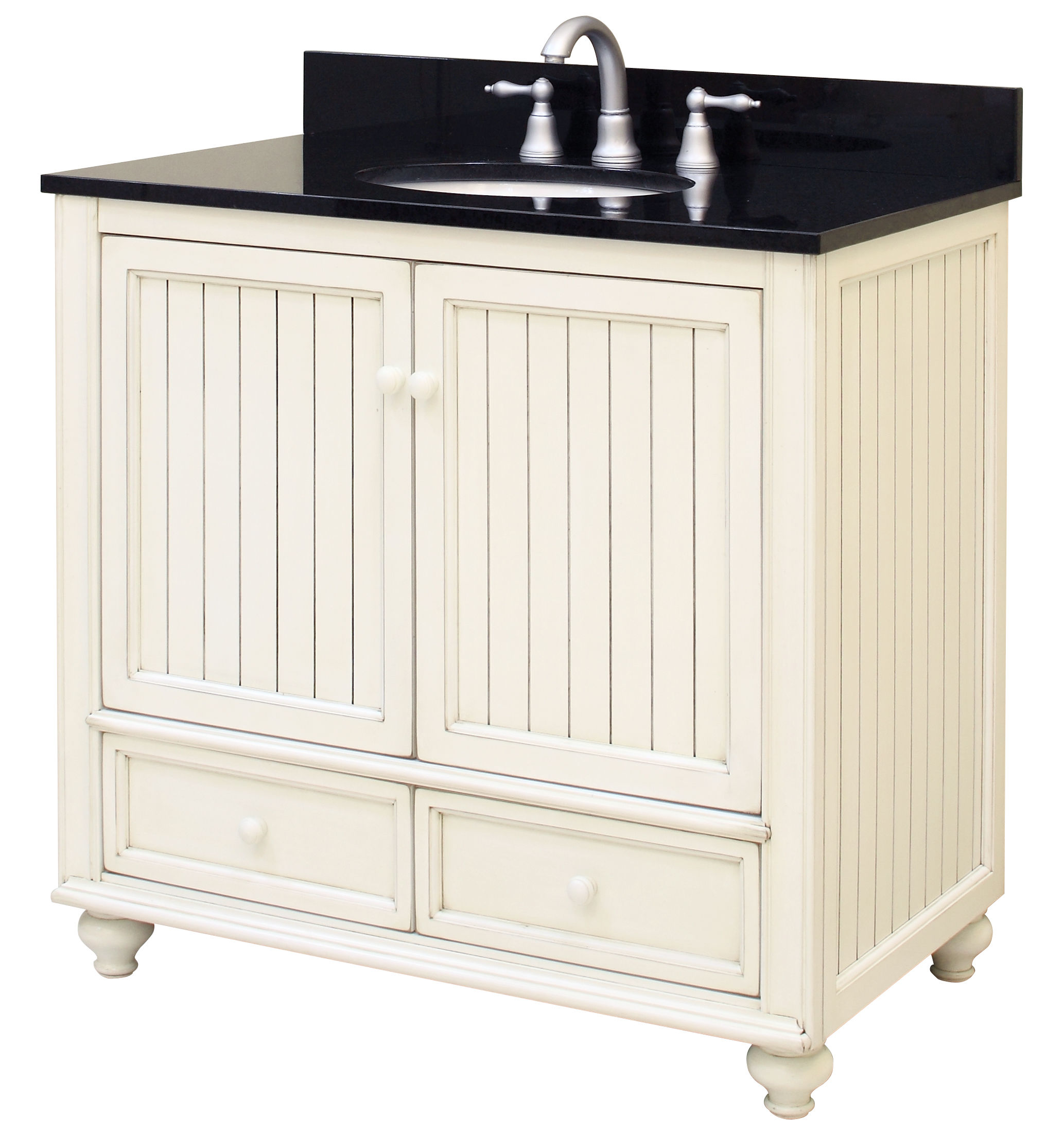 Sunny Wood Bb3621d Burnished White Bristol Beach 36 Vanity Cabinet Only Faucetdirect