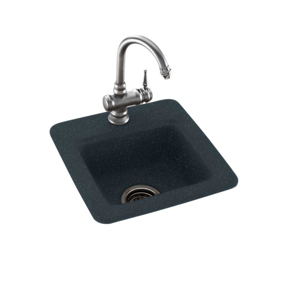 Swanstone BS01515.015 Black Galaxy Entertainment and Bar Sink 15\