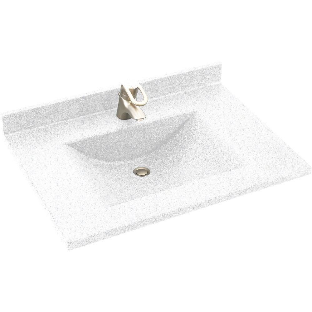 Swanstone Granite Kitchen Sink Swanstone Cv02231123 Acorn Contour One Piece Vanity Top And Sink