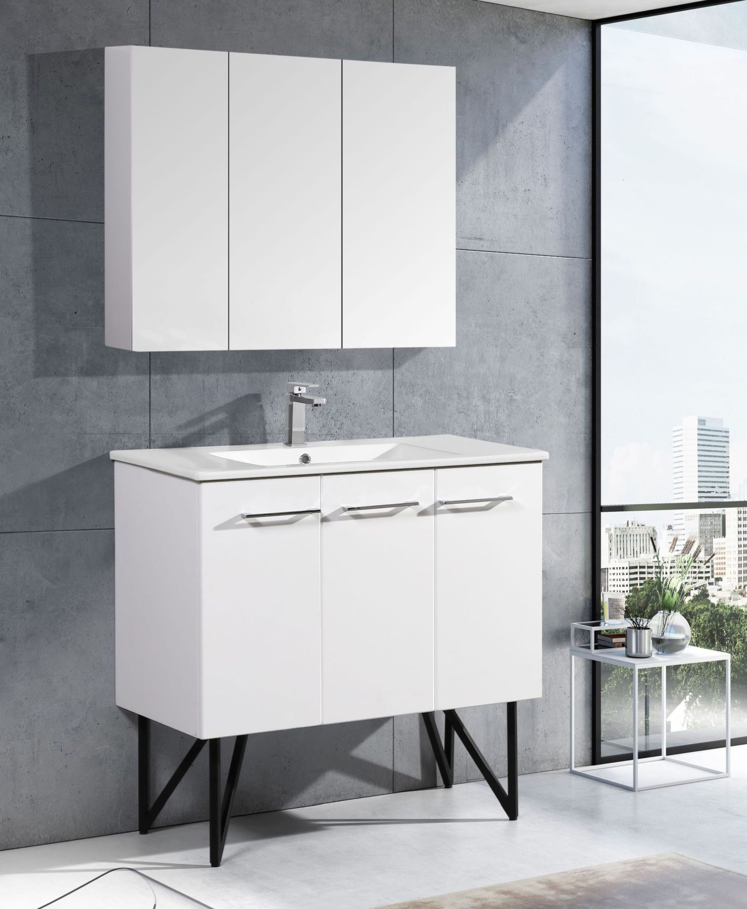 Swiss Madison Sm Bv213 Glossy White Annecy 36 Free Standing Wall Mounted Floating Single Basin Vanity Set With Mdf Cabinet And Ceramic Vanity Top Faucet Com