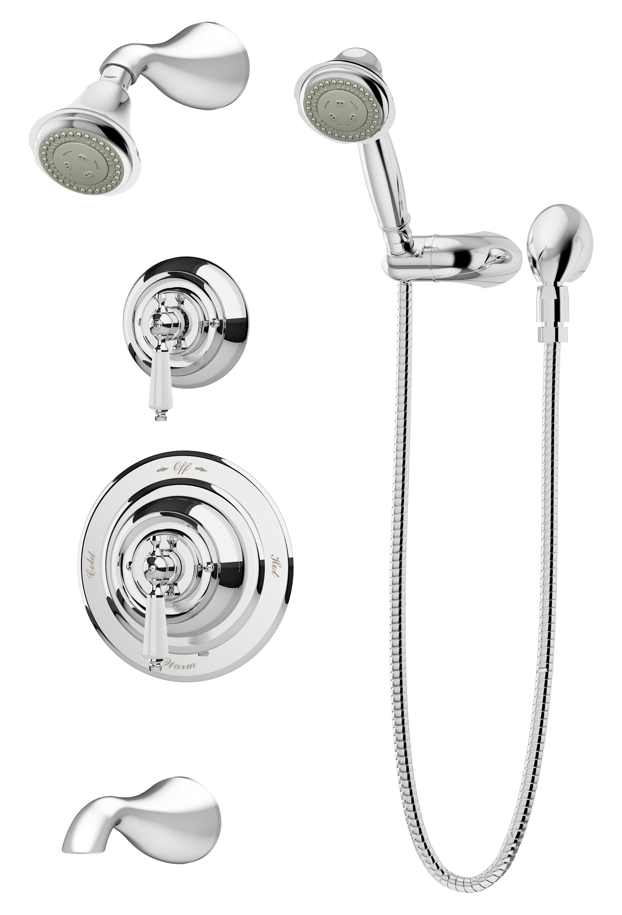 Symmons 4406 Stn 1 5 Trm Satin Nickel Carrington Pressure Balanced Shower System With Shower Head Shower Arm Hand Shower Hose And Valve Trim Faucetdirect Com