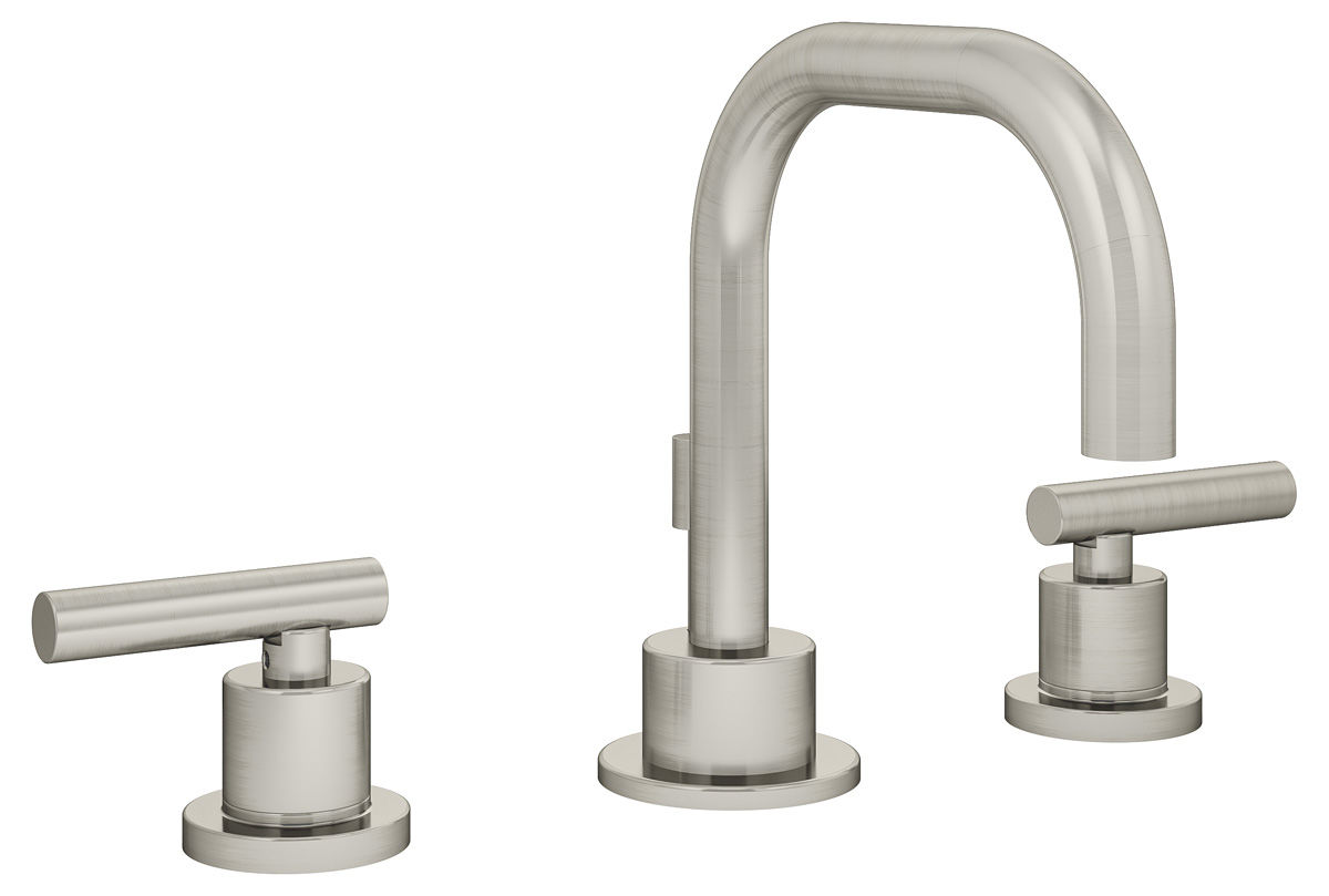 faucet pull single down stn p satin nickel in faucets handle sprayer symmons dia spp kitchen