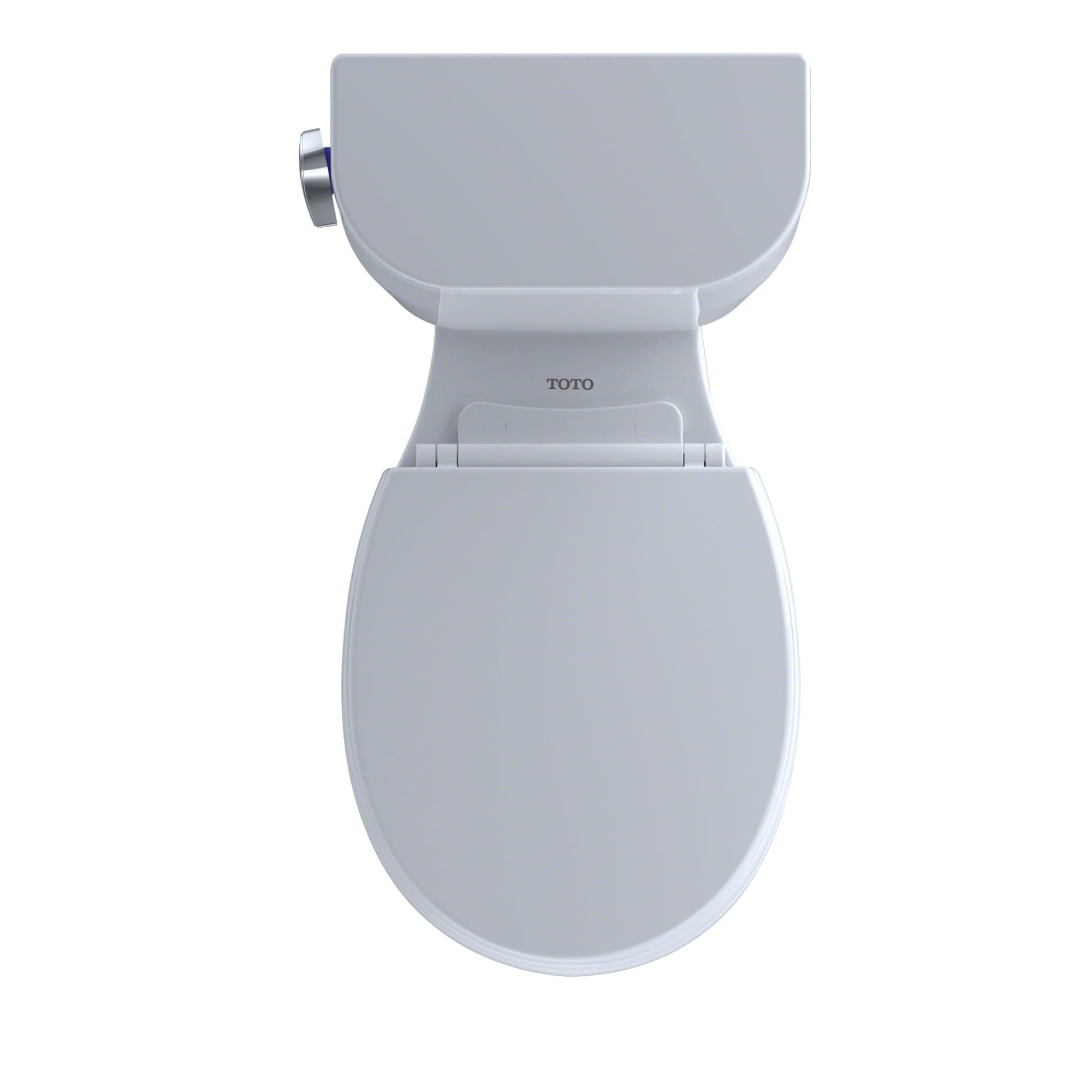 Toto CST243EF#01 Cotton Entrada 1.28 GPF Close Coupled Round Toilet ...
