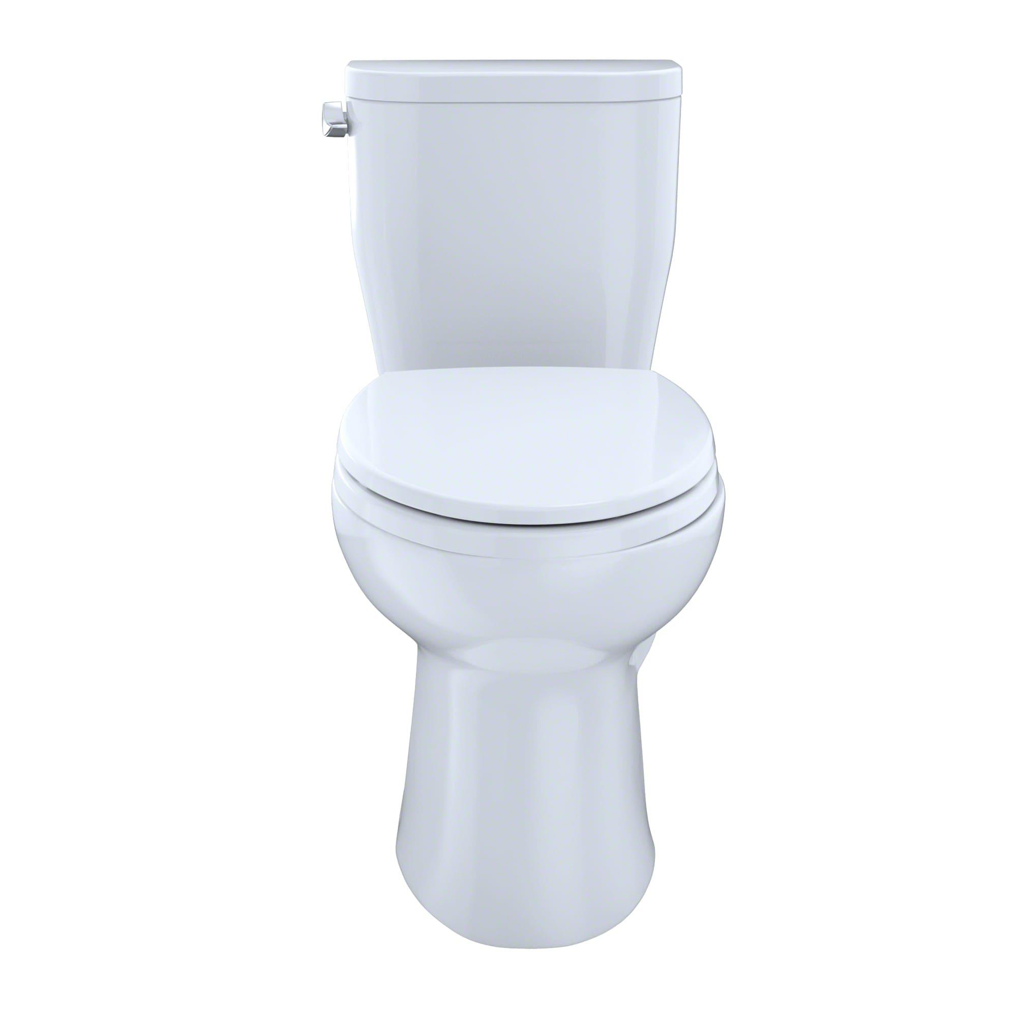 Toto CST244EF#01 Cotton Entrada 1.28 GPF Two-Piece Elongated Toilet ...