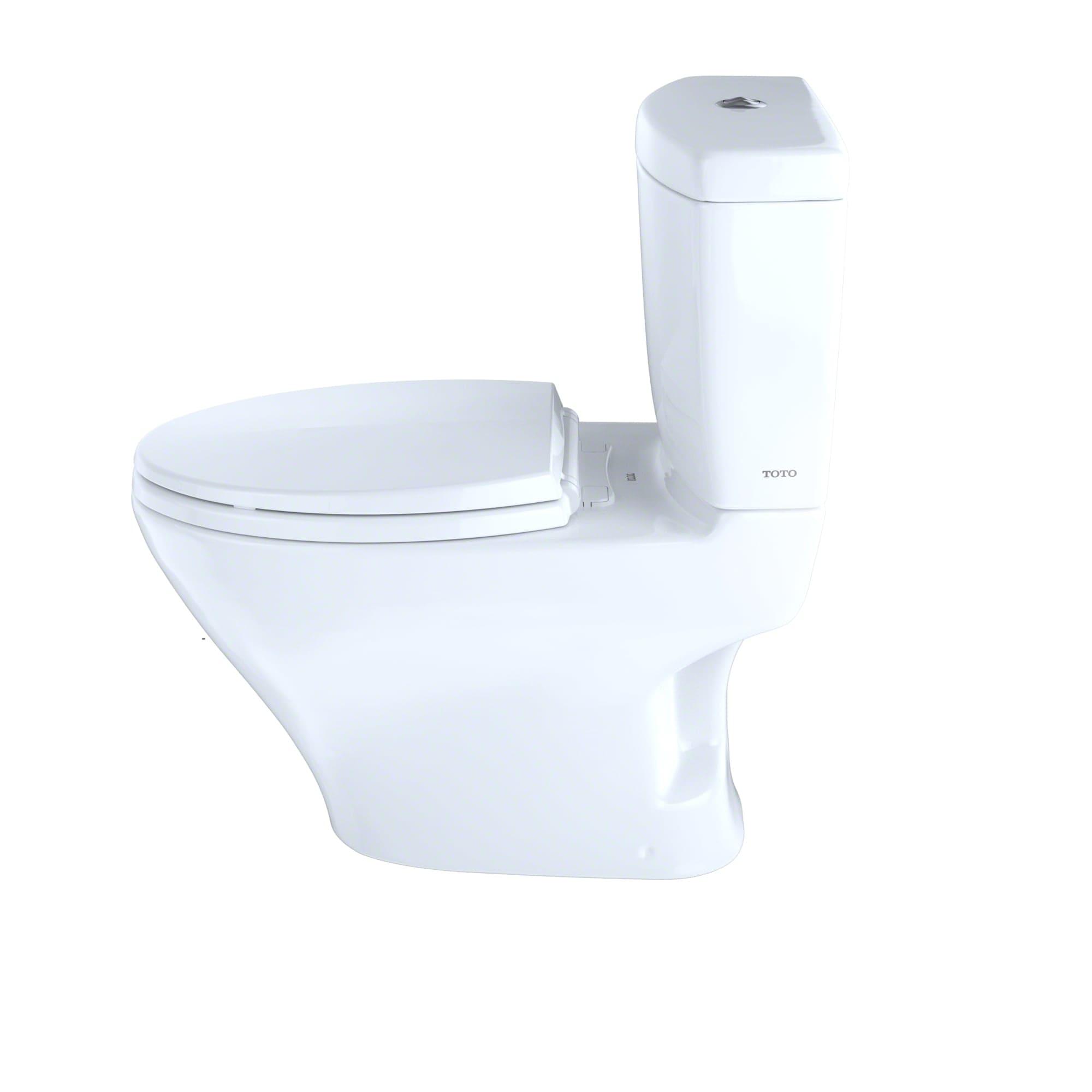 Toto CST416M#01 Cotton Aquia II Two Piece Elongated Dual Flush ...