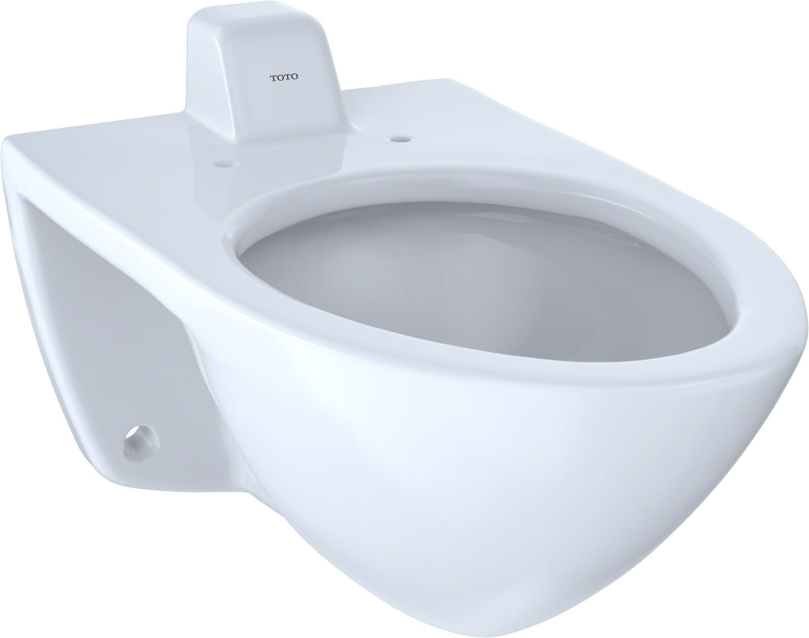 Toto CT708UV#01 Cotton Commercial Wall-Hung Elongated Toilet Bowl ...