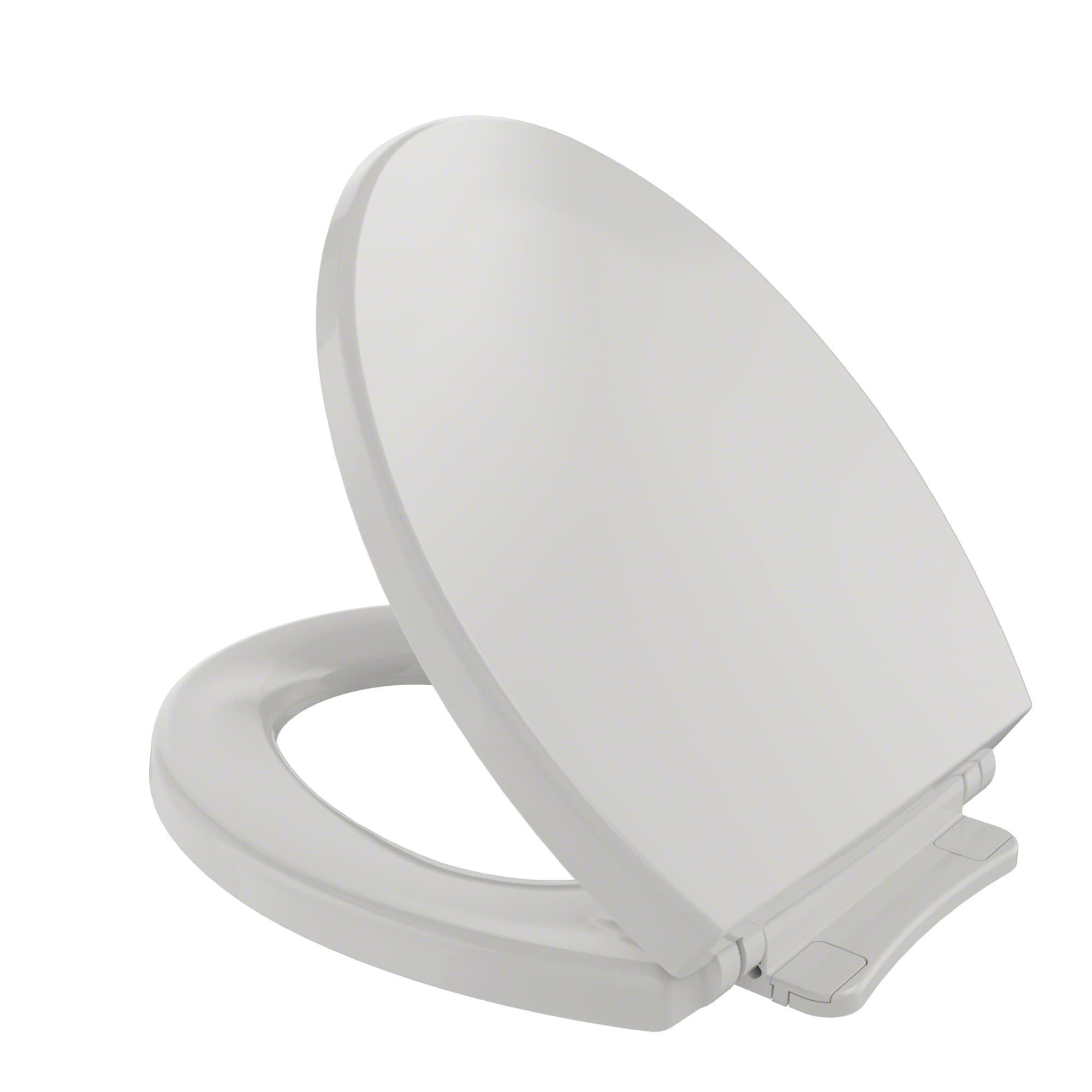 Toto SS113#01 Cotton SoftClose Round Closed-Front Toilet Seat and ...