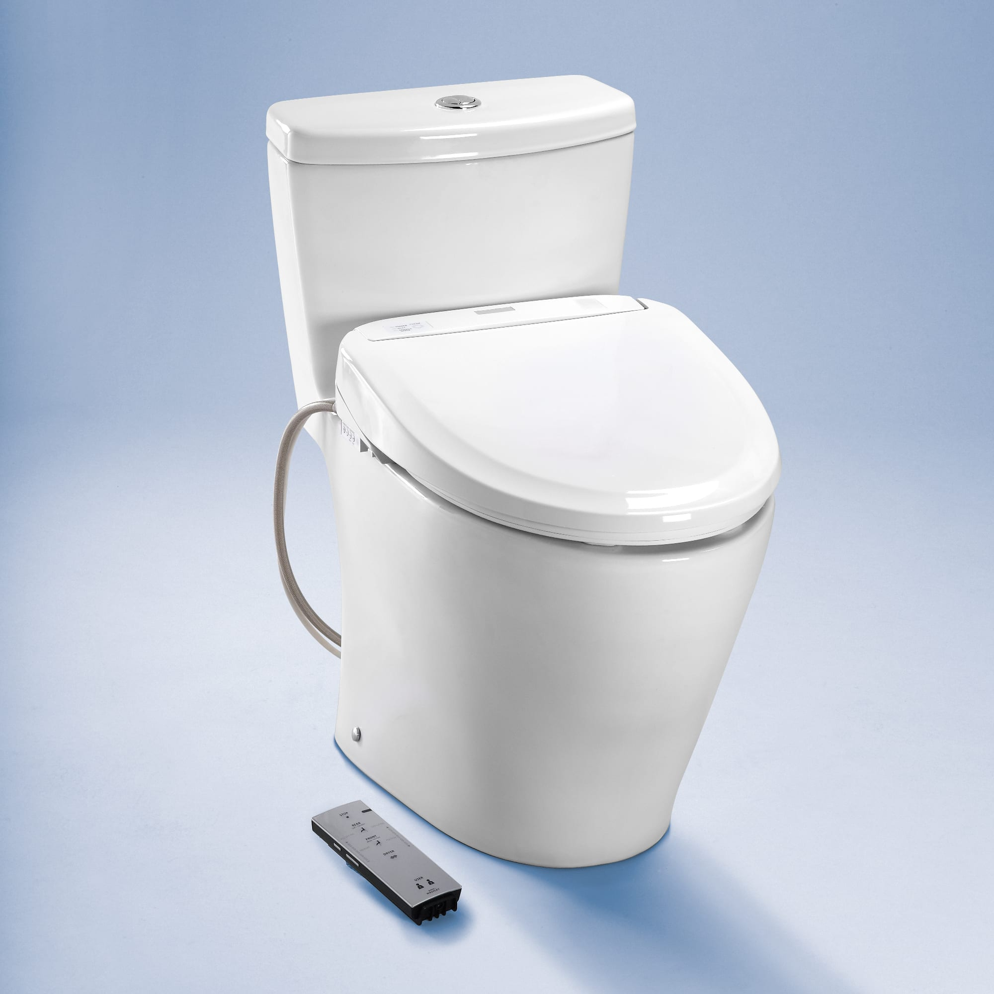 Toto SW573#01 Cotton S300e Round Seat Washlet with Heated Seat, Warm ...