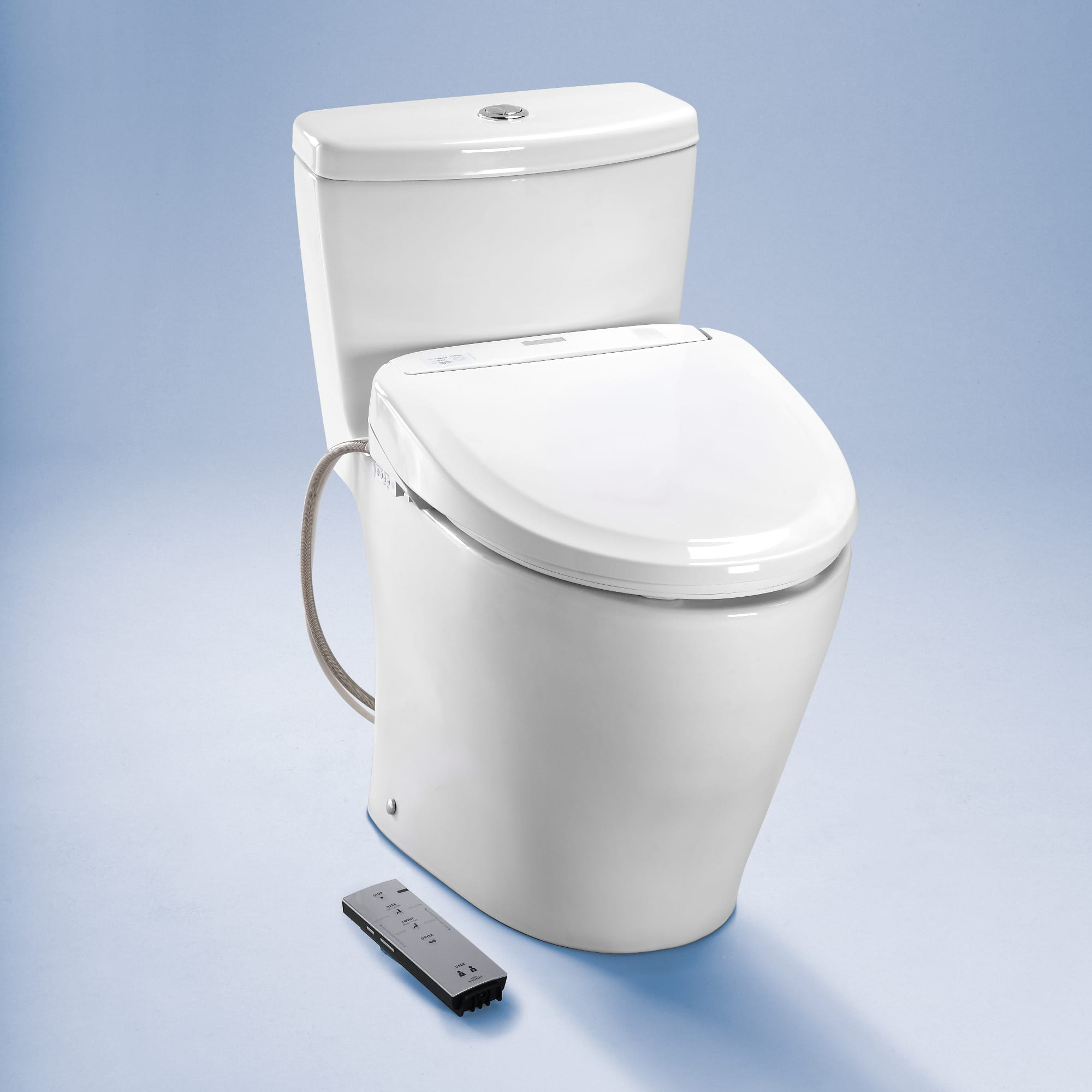 Toto SW574#01 Cotton S300e Elongated Seat Washlet with Heated Seat ...