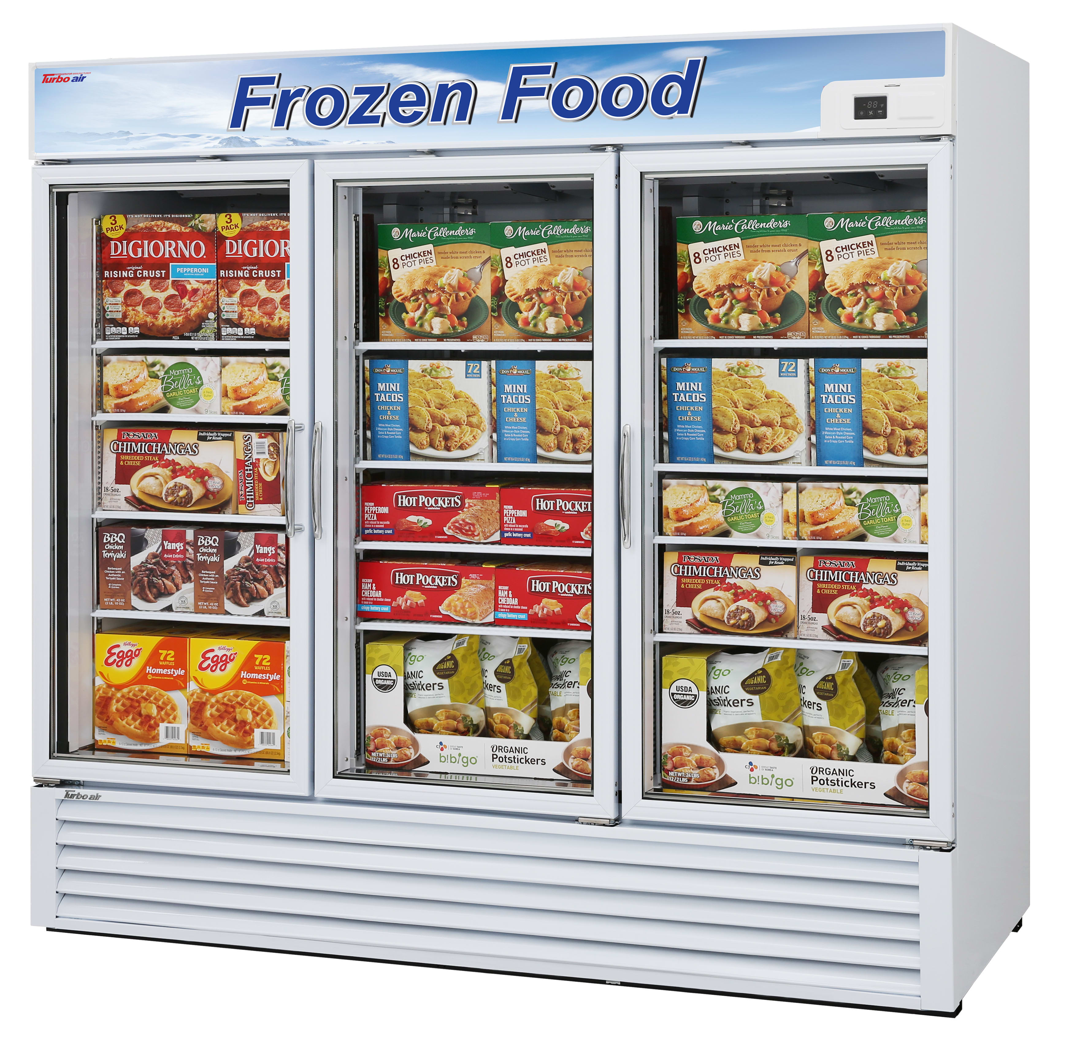 Turbo Air Merchandiser Commercial Freezers Tgf 72f