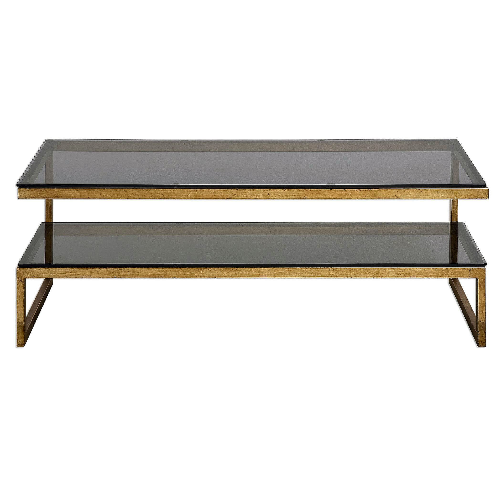 """Uttermost Antique Gold Adeen 18"""" x 48"""" Console Table"""