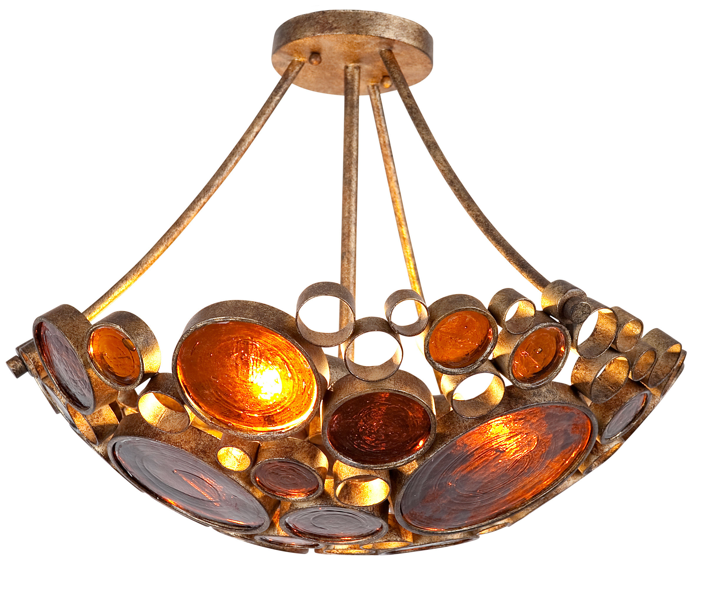 Varaluz 165s03ho hammered ore fascination 3 light hand forged varaluz 165s03ho hammered ore fascination 3 light hand forged recycled steel semi flush mount ceiling fixture lightingshowplace arubaitofo Image collections
