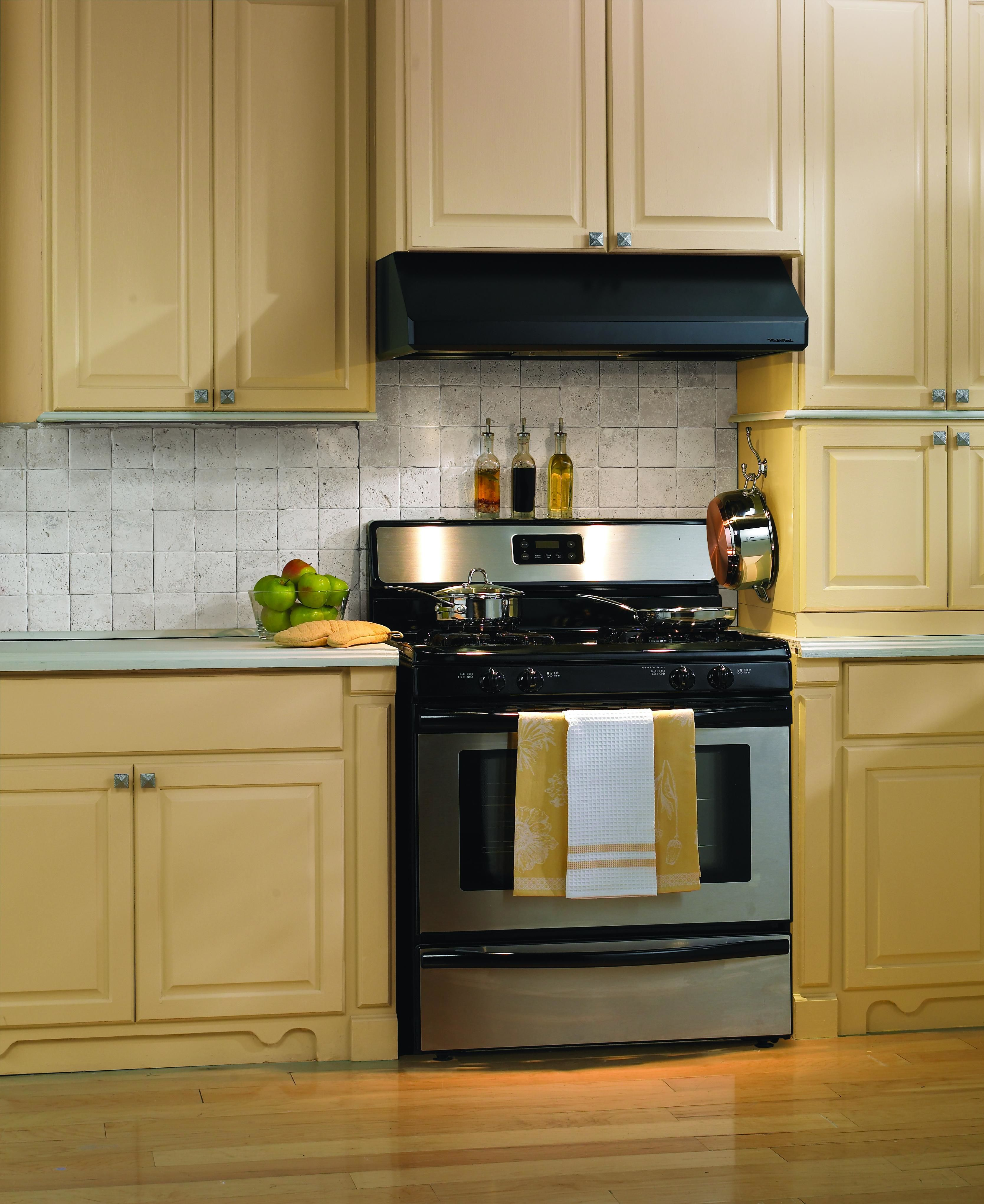 Vent A Hood SLH9 342 BL Black Emerald Collection 900 CFM 42 Inch Under  Cabinet Range Hood With Dual Blowers And Halogen Lights   VentingDirect.com