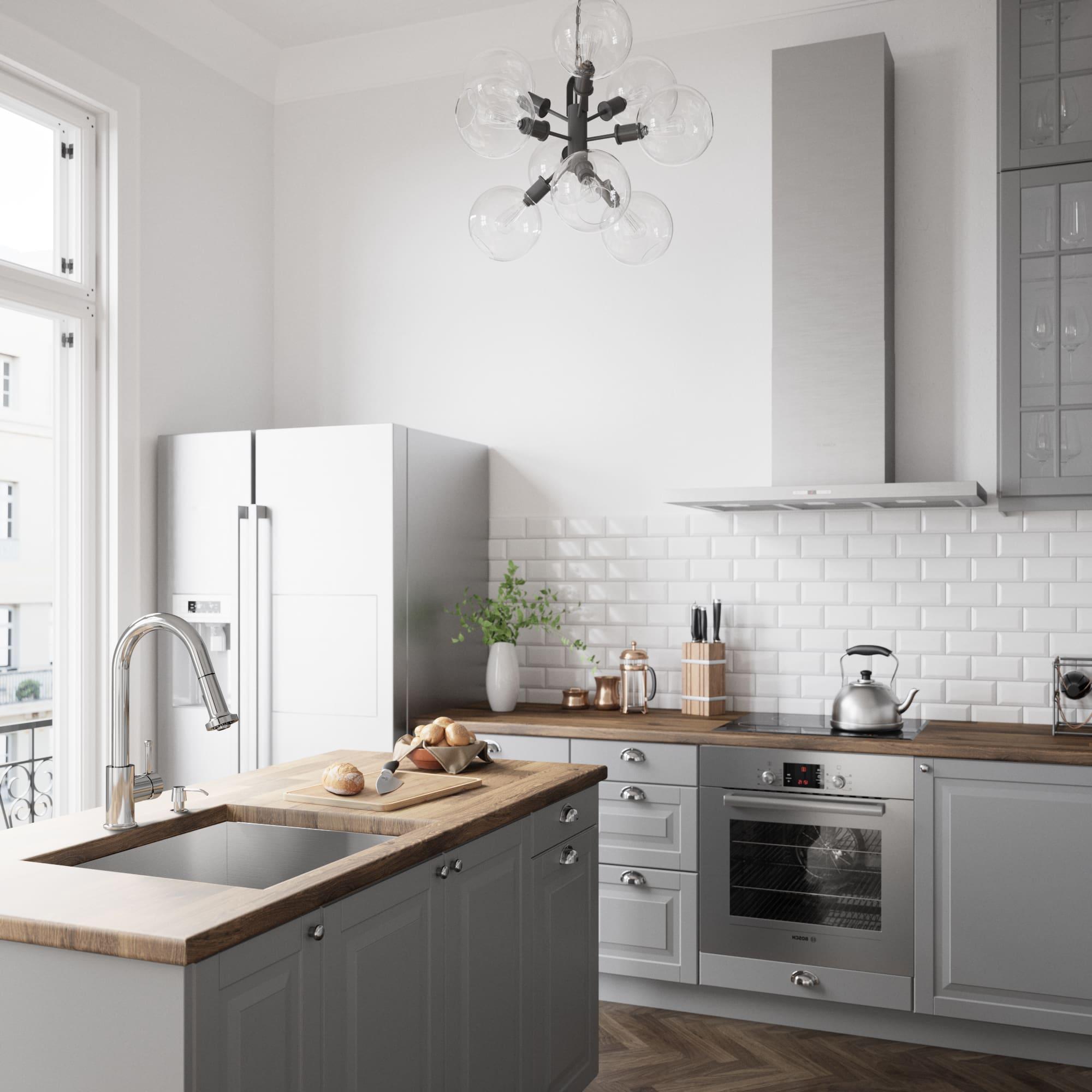 Vigo VG02002CH Chrome Harrison Pull-Out Spray Kitchen Faucet ...