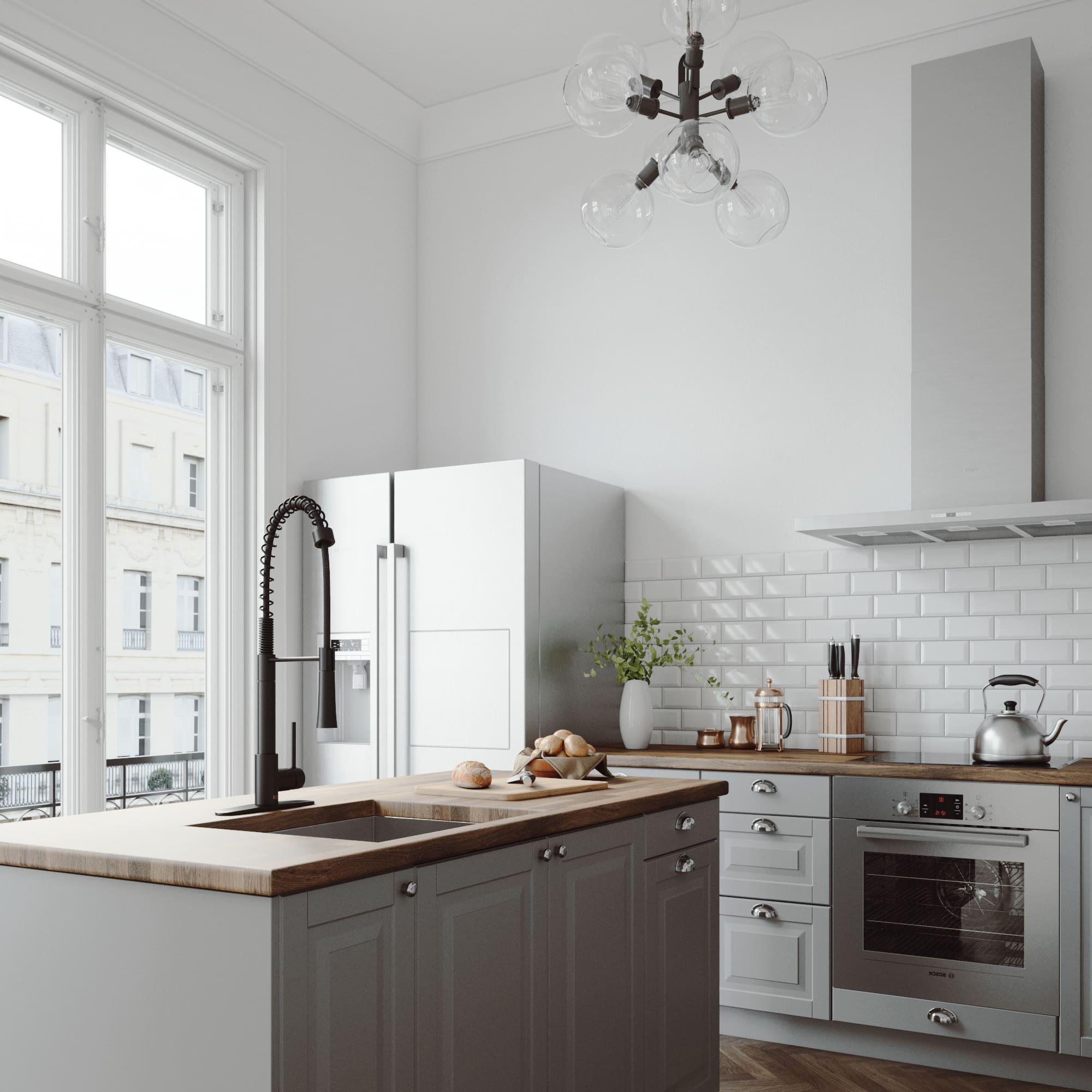 Vigo Laurelton Pull Down Spray Kitchen Faucet In Matte Black vigo vg02022k1 - build
