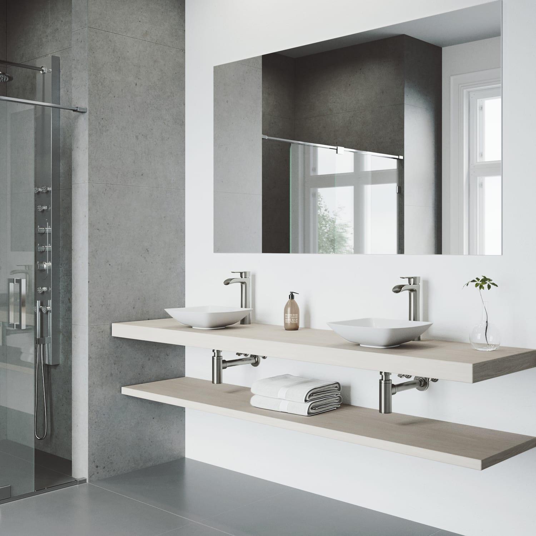 Vigo Vg03024bn Brushed Nickel Niko 1 2 Gpm Single Hole Handle Bathroom Faucet Com