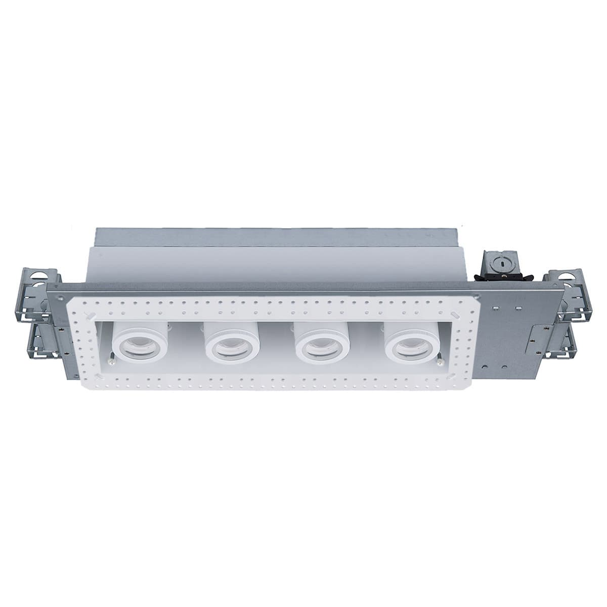 Wac Lighting Mt 4415l 930 Wtwt White 3000k Silo Multiples 4 Light 22 Wide Led Square Adjustable And Invisible Trim With New Construction And Non Ic Rated Housing 58 Watts Lightingdirect Com