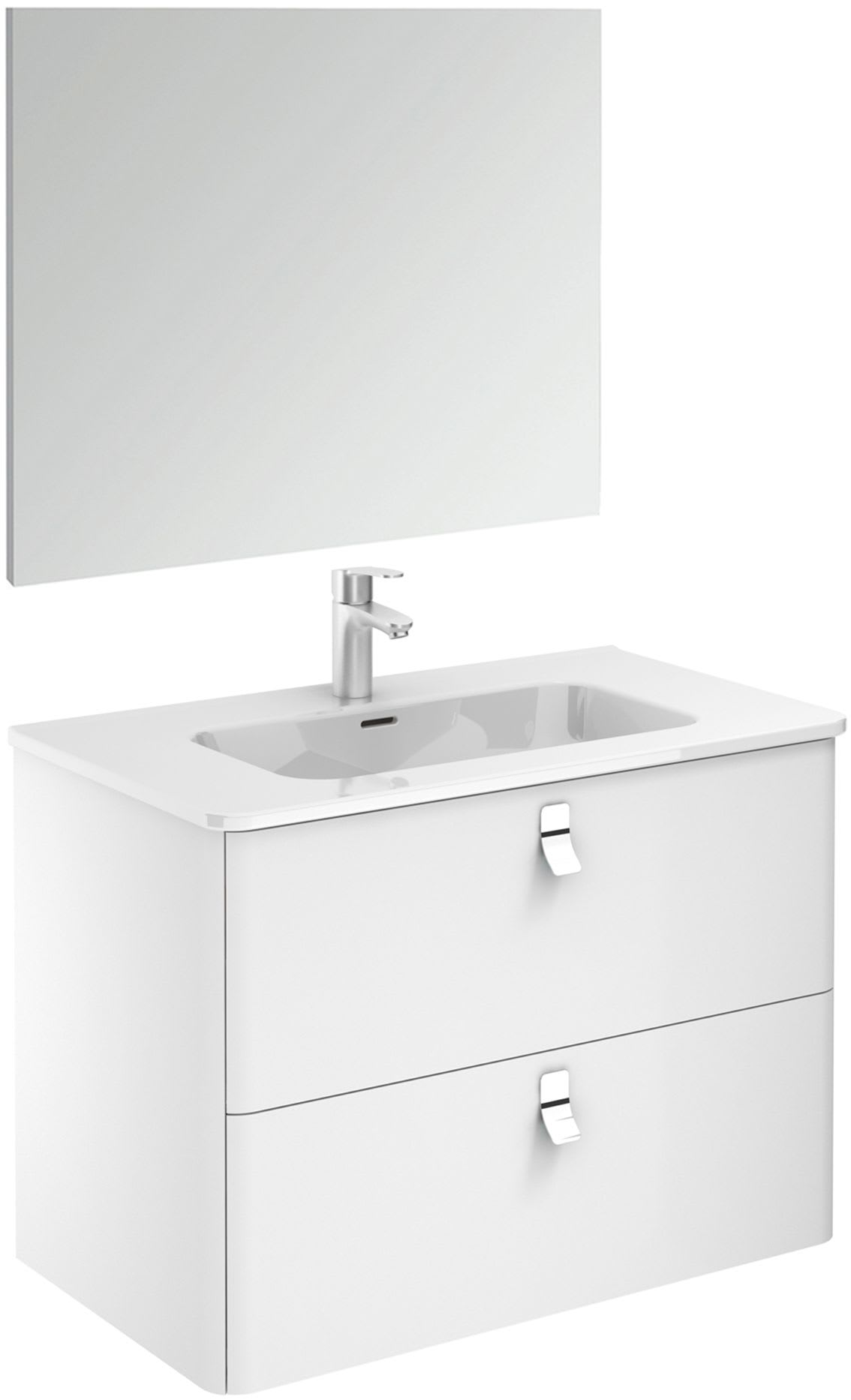 Ws Bath Collections Concert 80 Pack 1 No Nordic Oak Concert 32 Wall Mounted Single Basin Vanity Set With Engineered Wood Cabinet Ceramic Vanity Top And Frameless Mirror Faucet Com