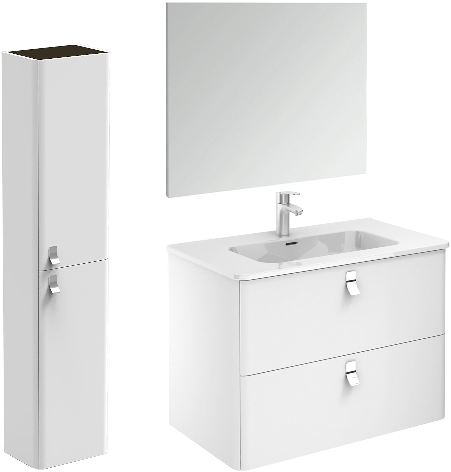 Ws Bath Collections Concert 80 Pack 2 Wg Gloss White Concert 32 Wall Mounted Single Basin Vanity Set With Engineered Wood Cabinet Ceramic Vanity Top And Frameless Mirror Faucetdirect Com