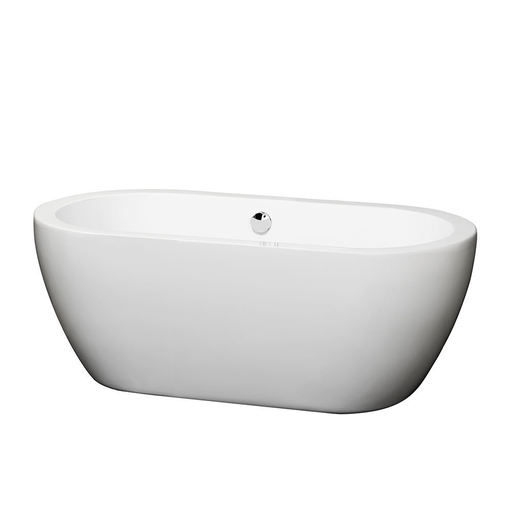 60 inch freestanding soaking tub. Wyndham Collection WCOBT100260BNTRIM White  Brushed Nickel Trim Soho 60 Free Standing Acrylic Soaking Tub With Center Drain Pop Up Assembly