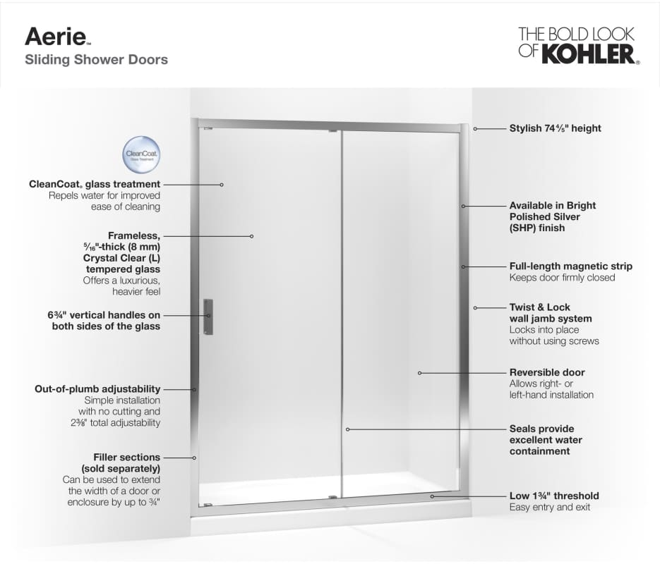 Faucetcom K706147LSHP in Bright Polished Silver by Kohler