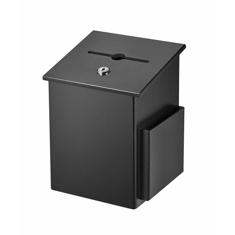 Adir Customizable Wood Suggestion Box Black