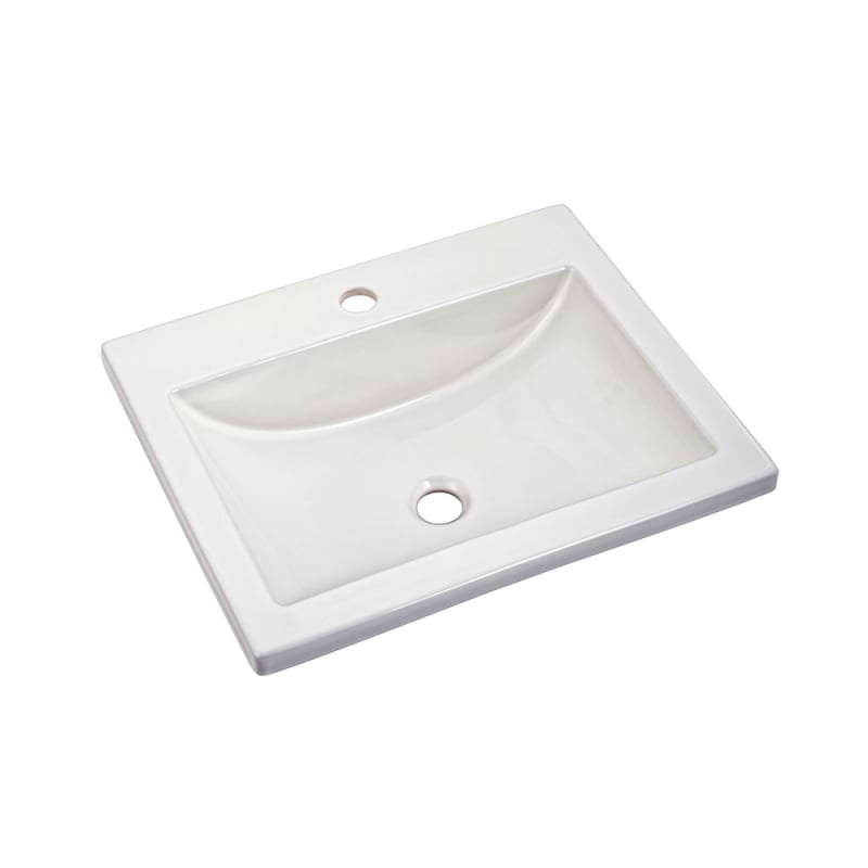 American Standard 0643001 21 14 Drop In Bathroom Sink With 1 Hole