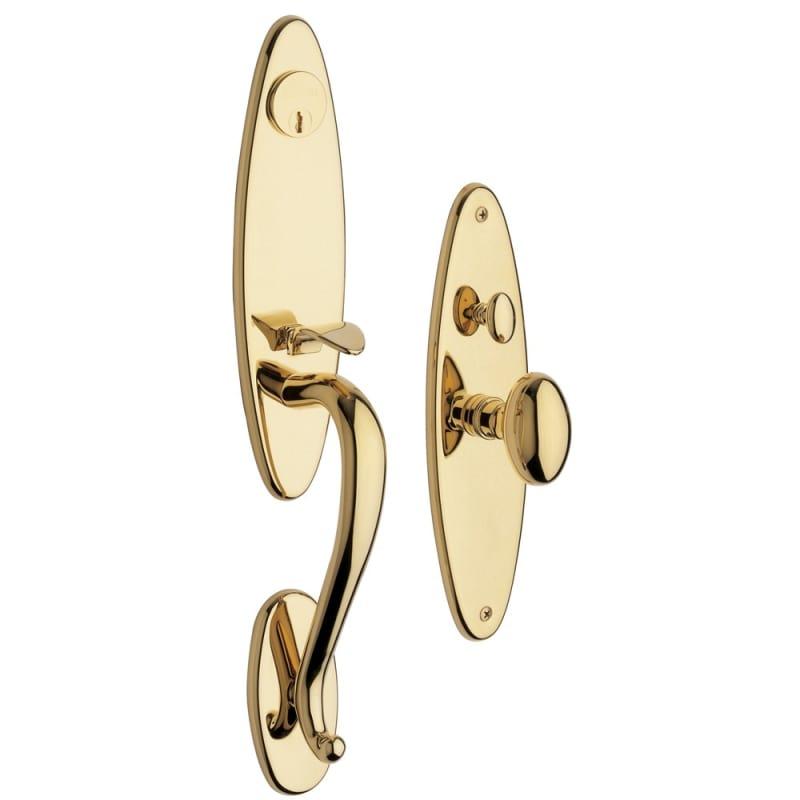 Baldwin 6573.DBLC Springfield Double Cylinder Mortise Handleset Trim Set Lifetime Polished Brass Mortise Lock Keyed Entry Double Cylinder -  6573003DBLC