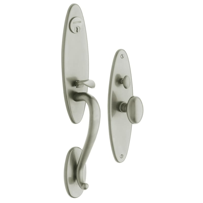 Baldwin 6573.ENTR Springfield Single Cylinder Mortise Handleset Trim Set Lifetime Satin Nickel Mortise Lock Keyed Entry Single Cylinder -  6573056ENTR