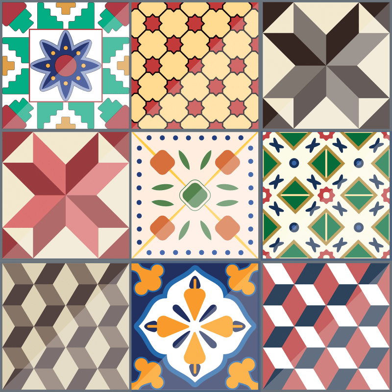 Brewster CR-68406 Colorful Tiles 71