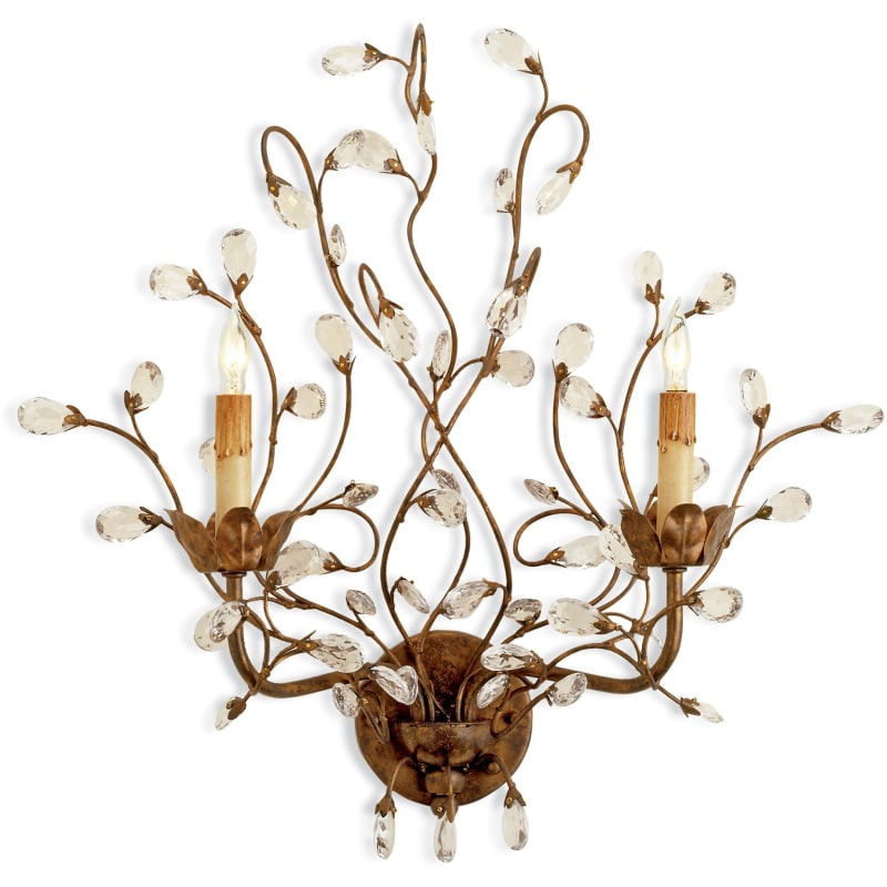 Currey And Company Warranty: Currey And Company 5882 Crystal Bud Wall Sconce With