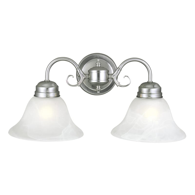 Design House 511600 Millbridge Transitional 2 Light Down Lighting Bathroom Vanit Satin Nickel Indoor Lighting Bathroom Fixtures Vanity Light