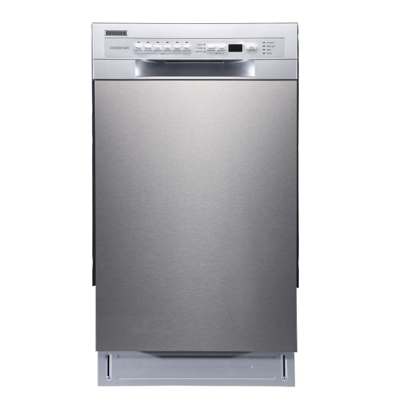EdgeStar BIDW1802SS 18 Inch Wide 8 Place Setting Energy Star Rated Built-In Dishwasher, Stainless Steel