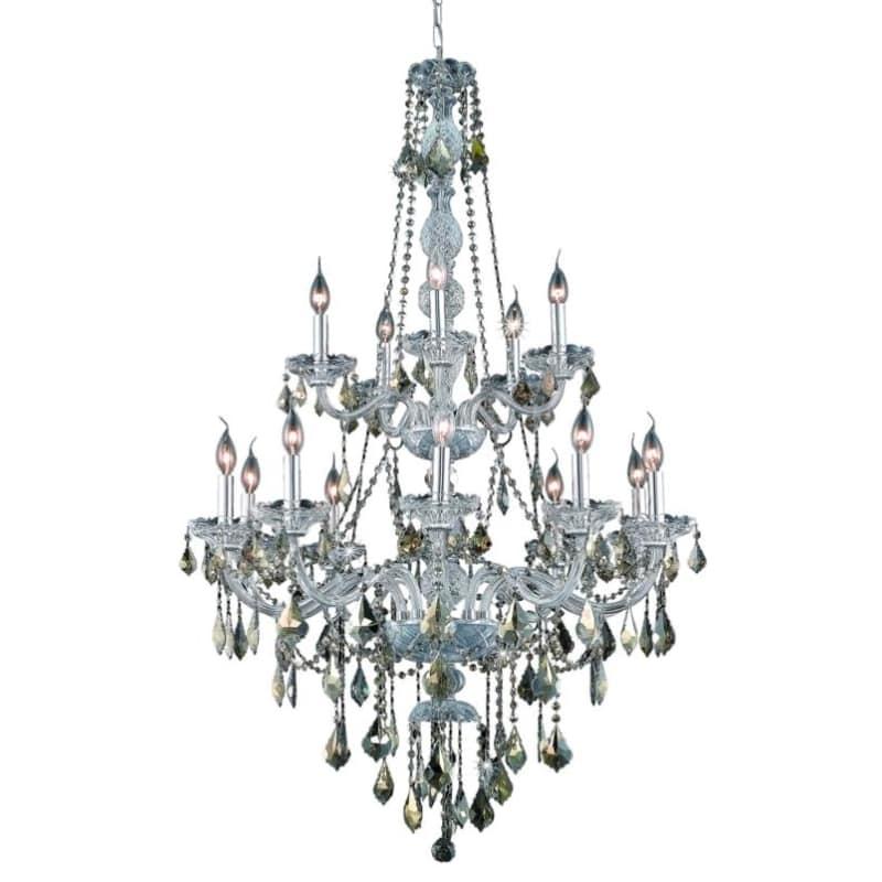 UPC 842814130333 product image for Elegant Lighting 7815G33C-GT Verona 15-Light, Two-Tier Crystal Chandelier, Finis | upcitemdb.com