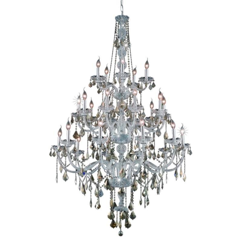 UPC 842814130395 product image for Elegant Lighting 7825G43C-GT Verona 25-Light, Three-Tier Crystal Chandelier, Fin | upcitemdb.com